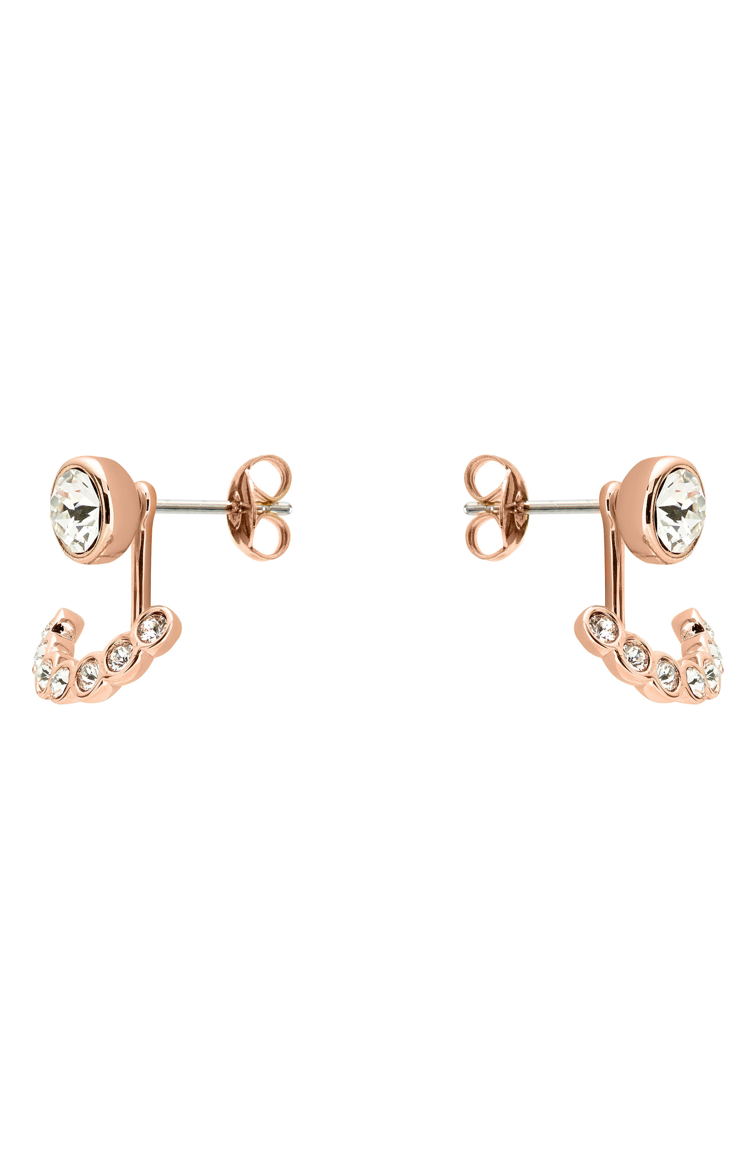 Concentric Crystal Drop Earrings,                             Alternate thumbnail 2, color,