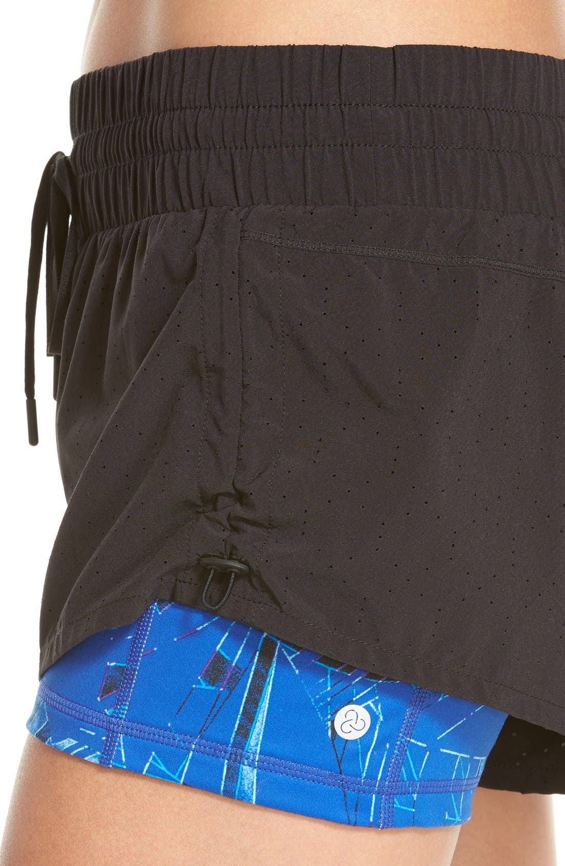 'Twice as Nice' Layered Shorts,                             Alternate thumbnail 4, color,