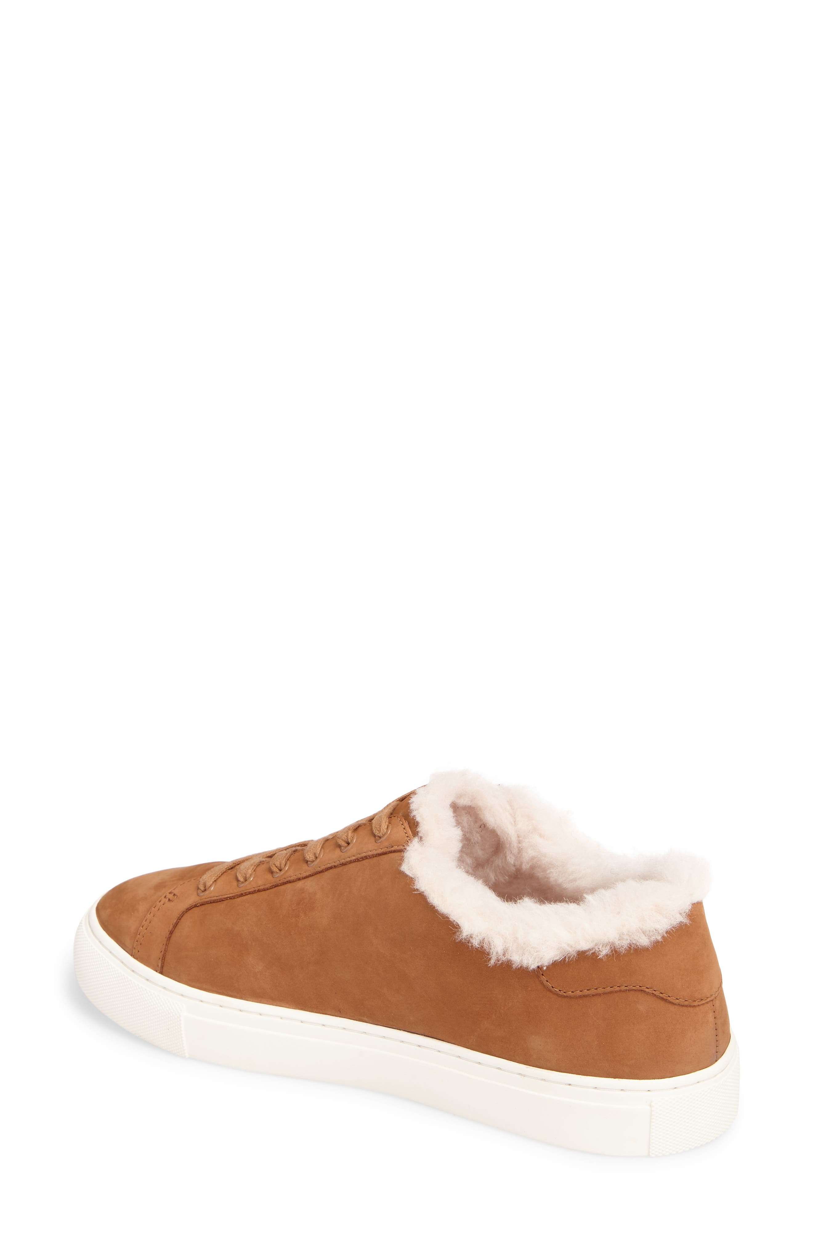 Lawrence Genuine Shearling Lined Sneaker,                             Alternate thumbnail 4, color,