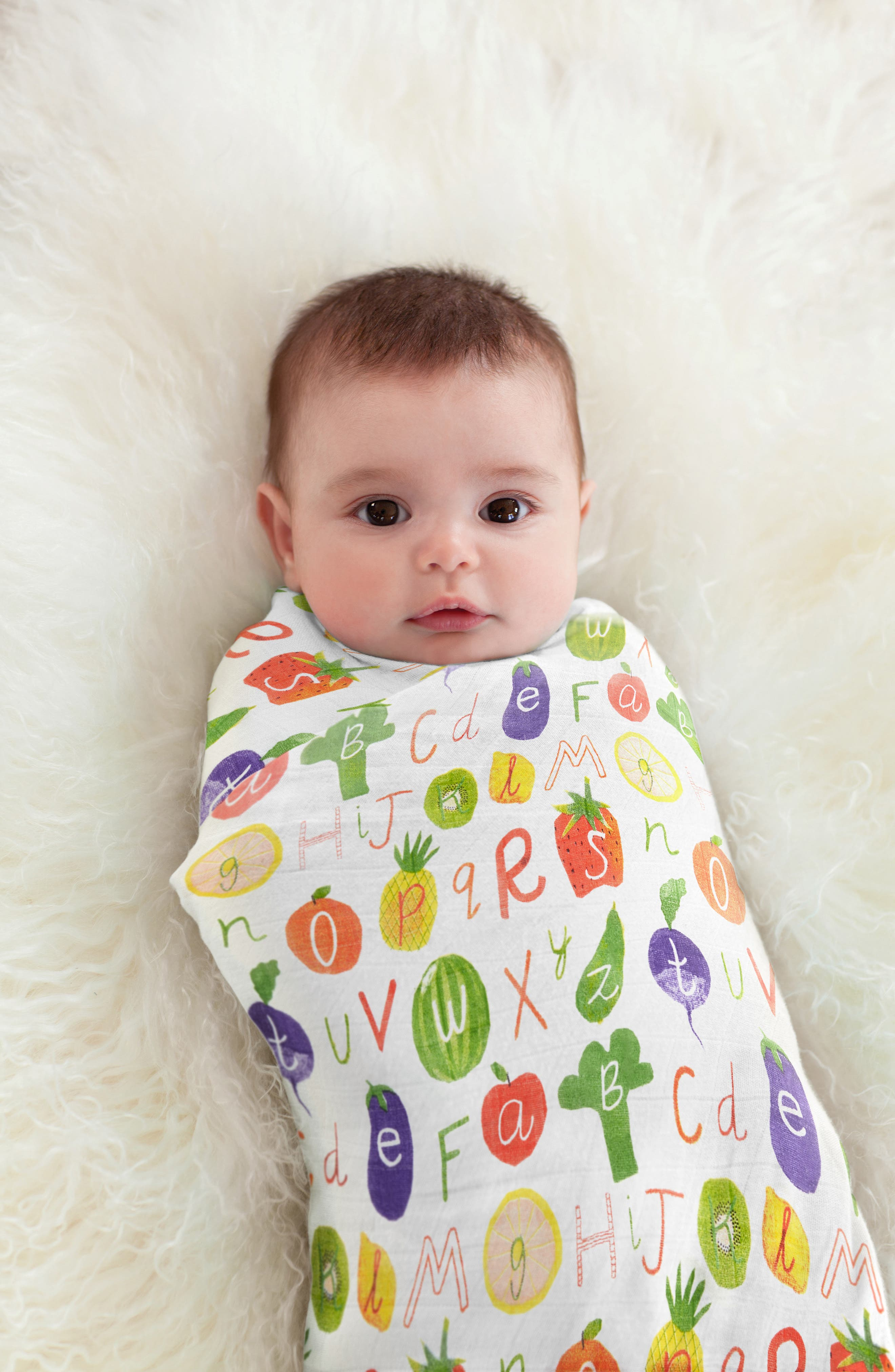 3-Pack Silky Soft Swaddling Cloths,                             Alternate thumbnail 5, color,                             TUTTI FRUTTI