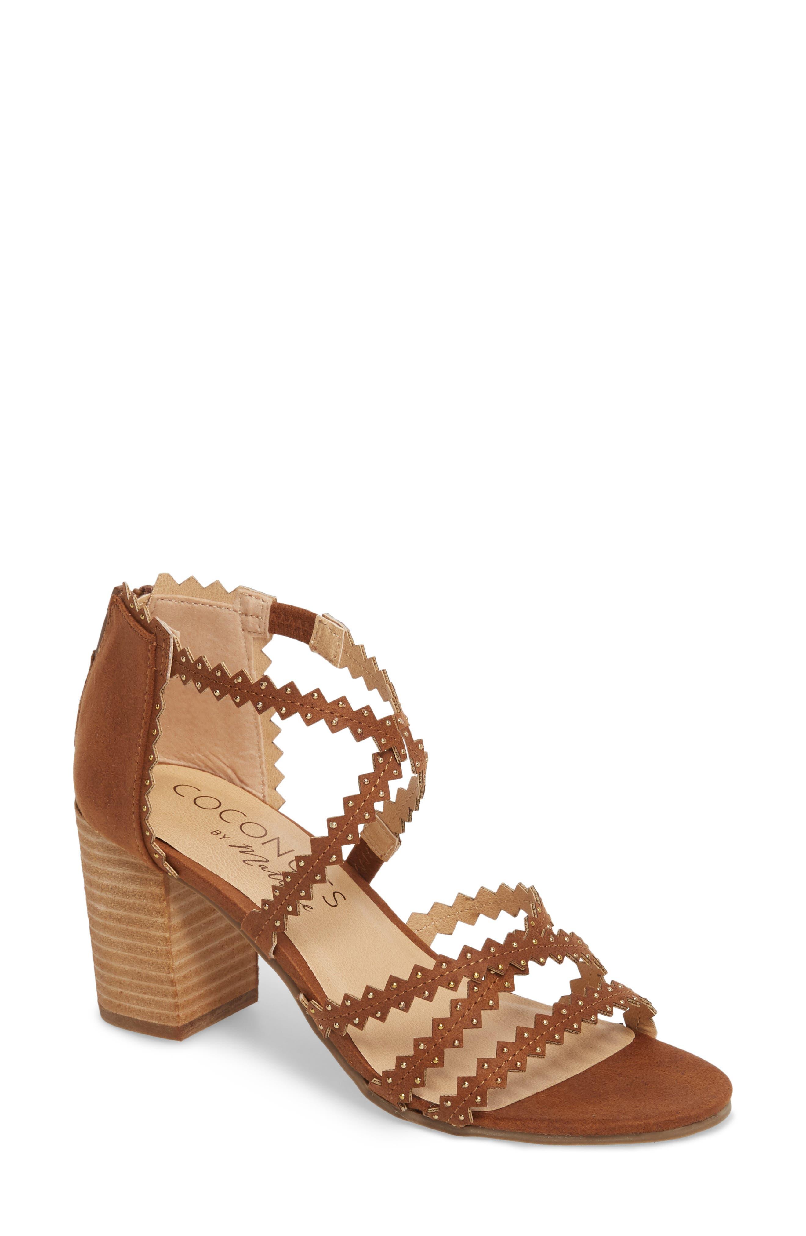 Aiden Block Heel Sandal,                         Main,                         color, SADDLE SUEDE