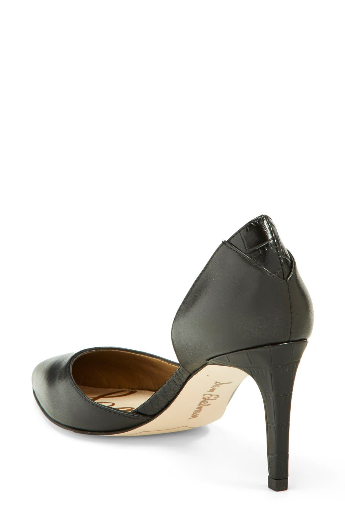 'Onyx' Half d'Orsay Pointy Toe Pump,                             Alternate thumbnail 2, color,                             001