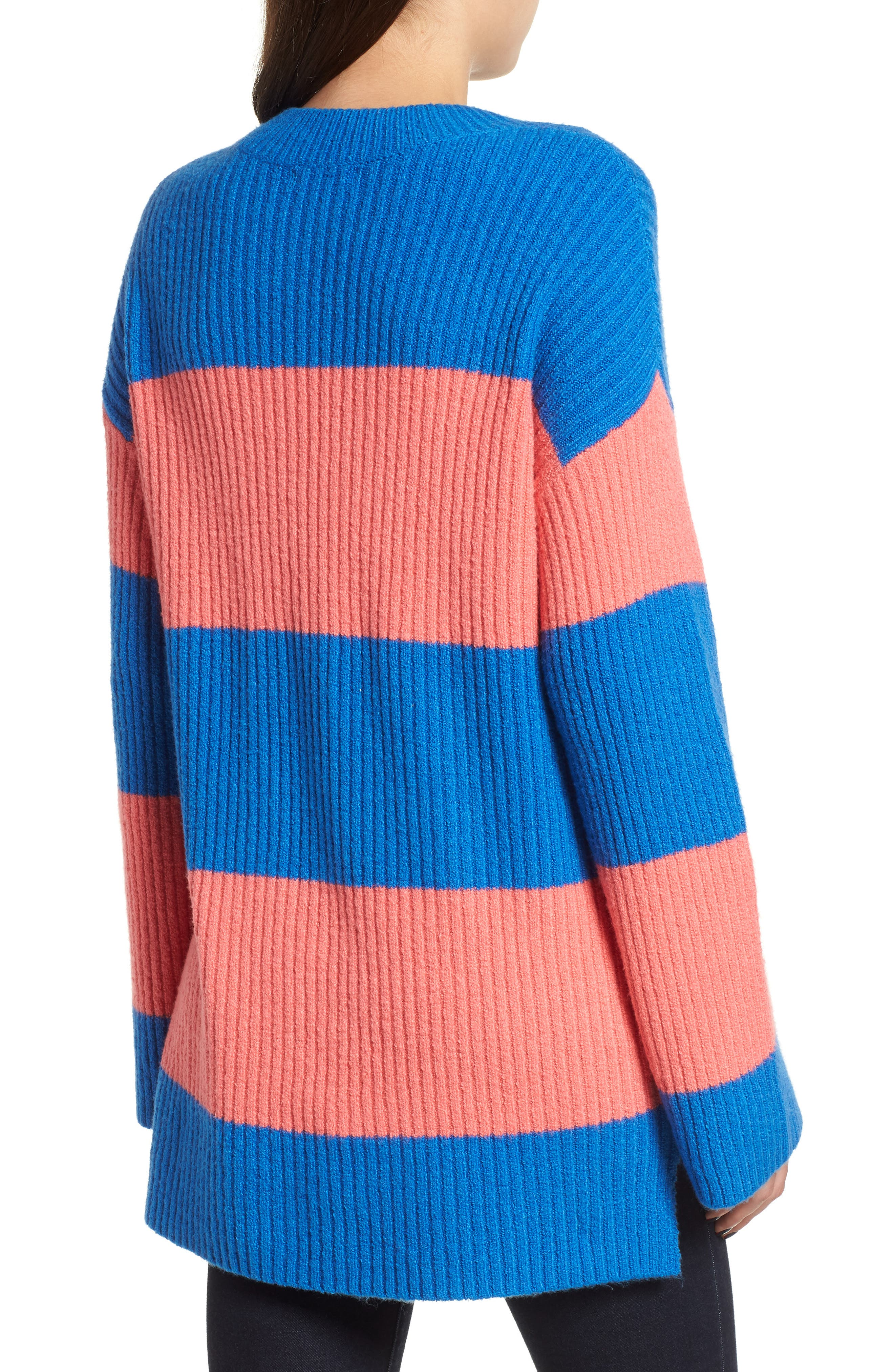 Rugby Stripe Sweater,                             Alternate thumbnail 3, color,                             BLUE BOAT COURTNEY STRIPE
