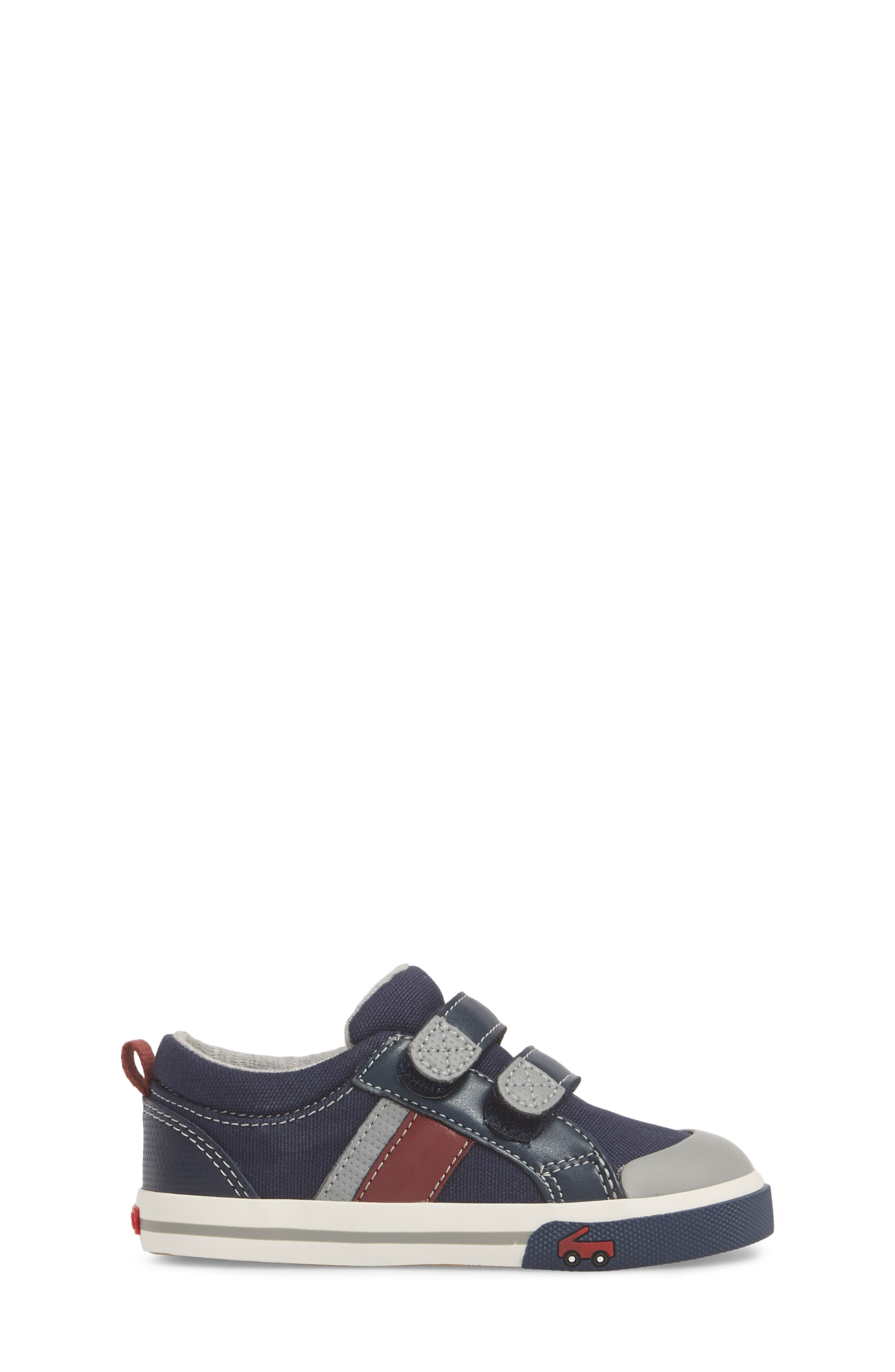 'Russell' Sneaker,                             Alternate thumbnail 3, color,                             NAVY/ RED