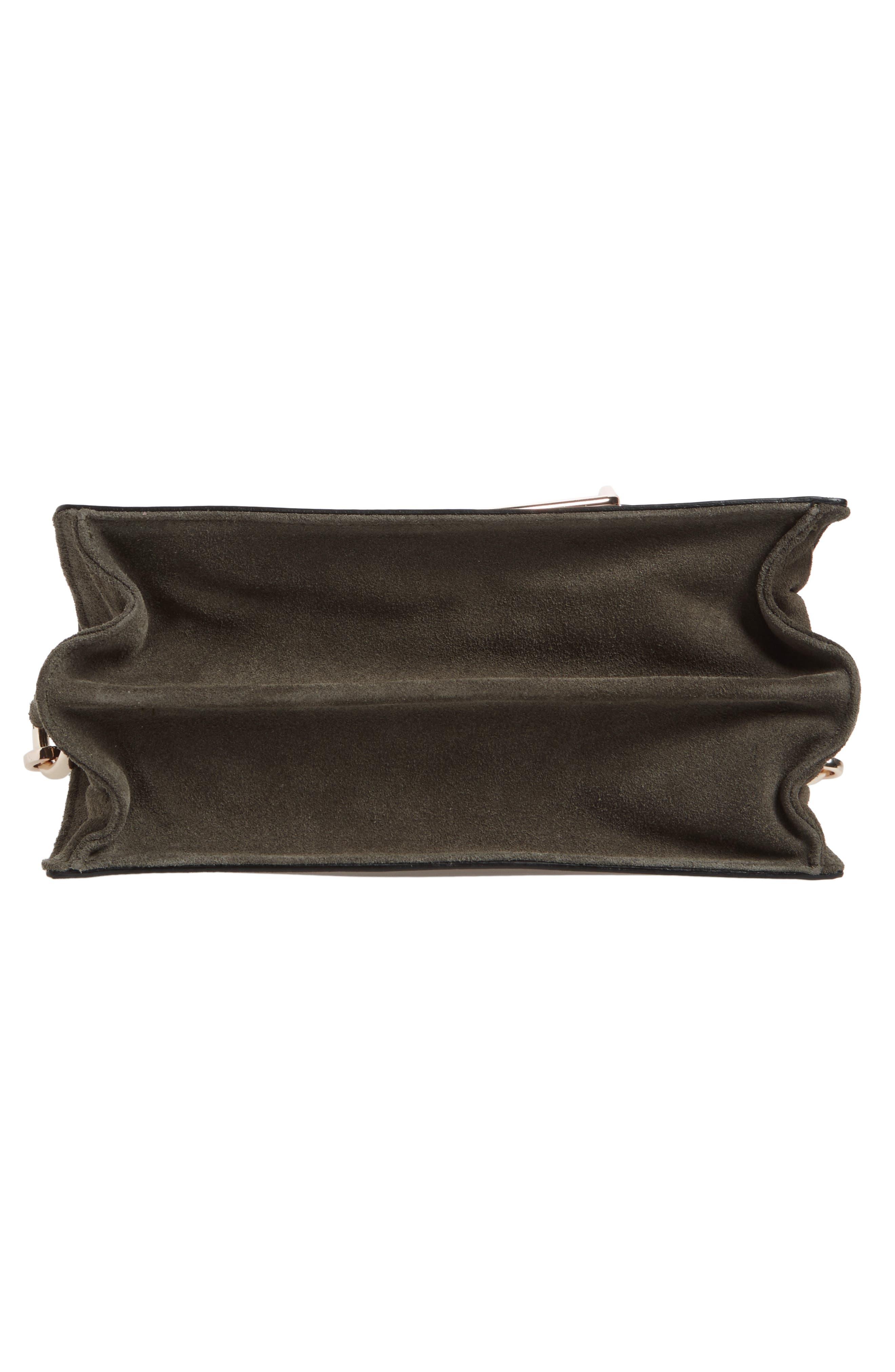 Premium Leather & Suede Soko Shoulder Bag,                             Alternate thumbnail 6, color,
