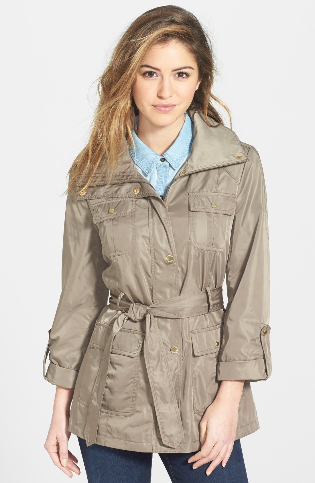 Techno Short Trench Coat,                             Main thumbnail 2, color,