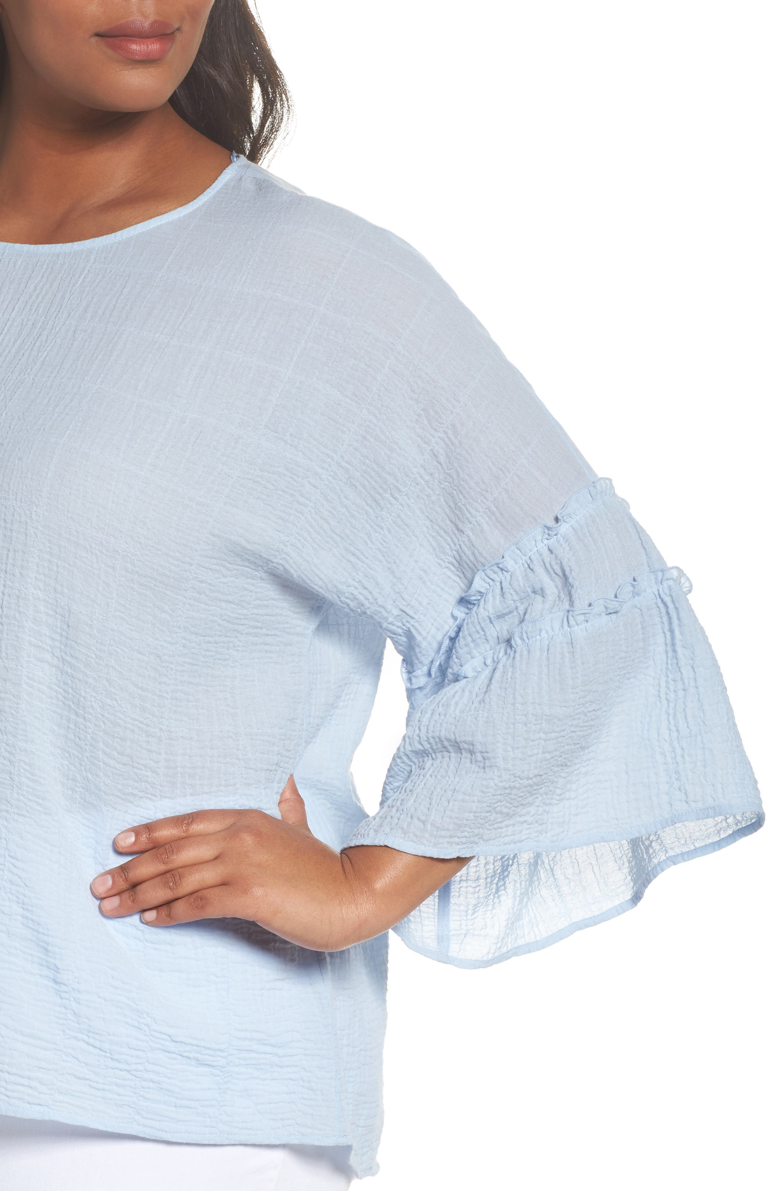 Crinkle Cotton Blouse,                             Alternate thumbnail 9, color,