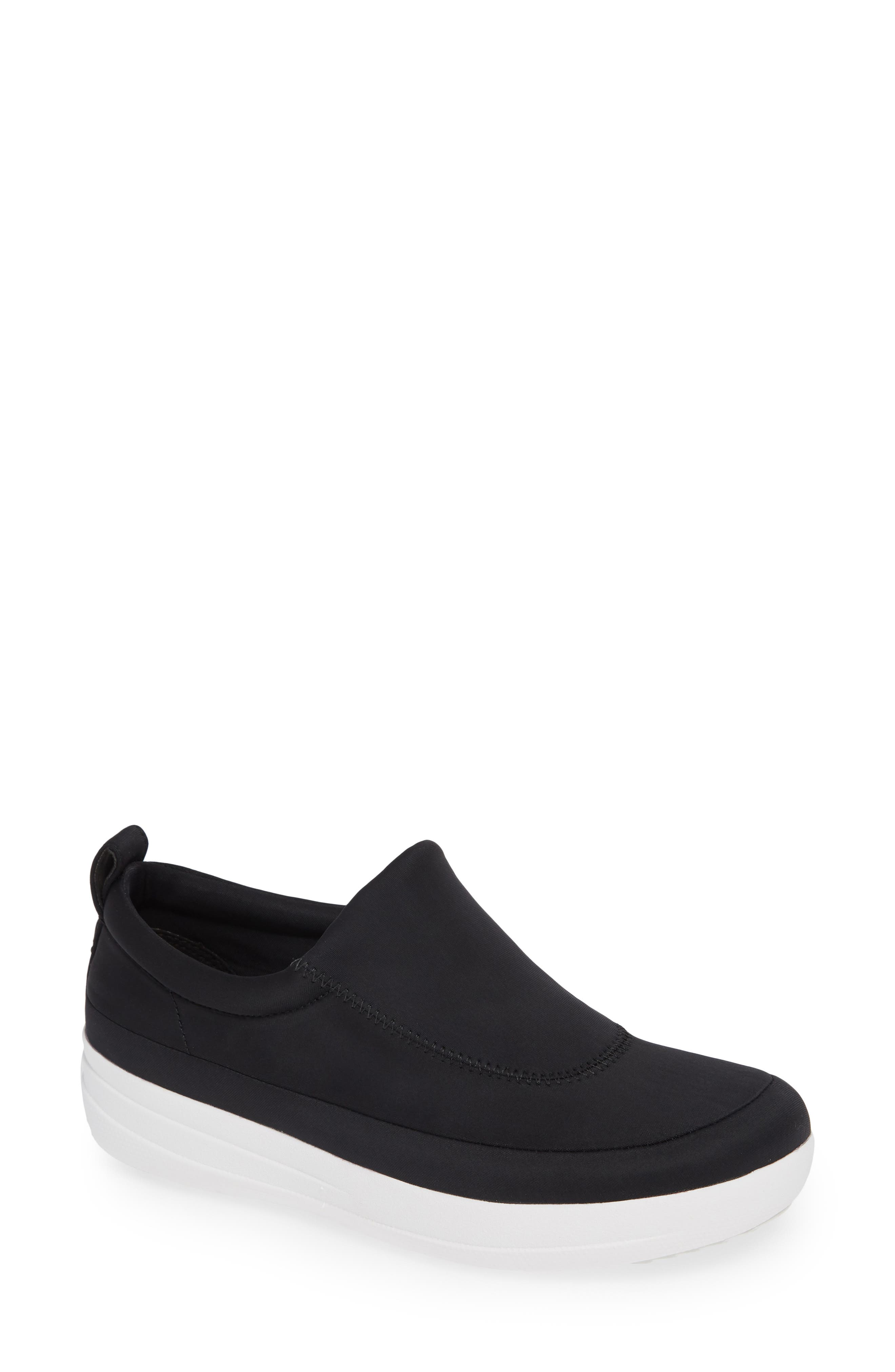 Freeflex Slip-On Sneaker,                         Main,                         color, BLACK FABRIC