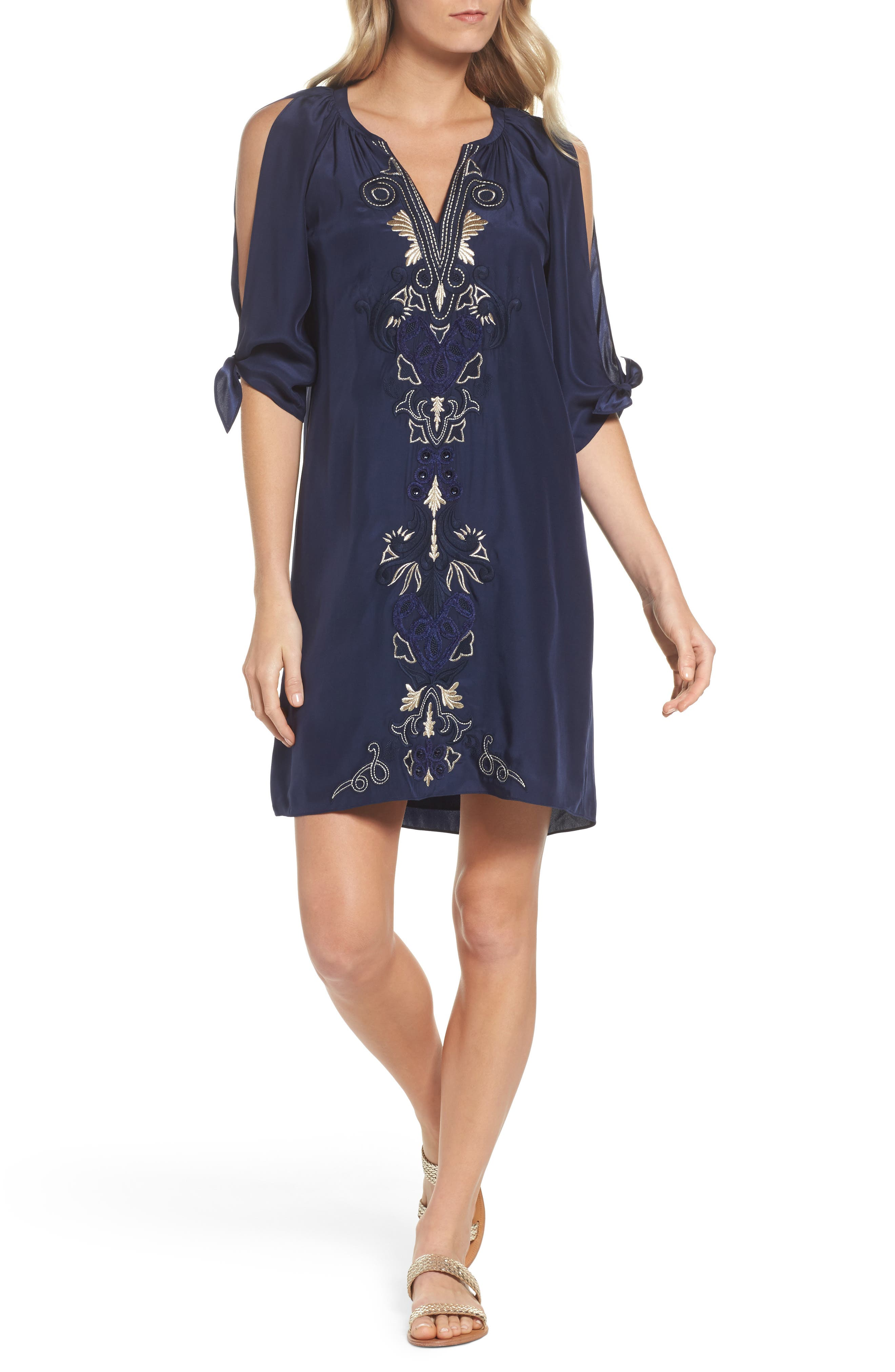 Bryce Silk Shift Dress,                         Main,                         color,