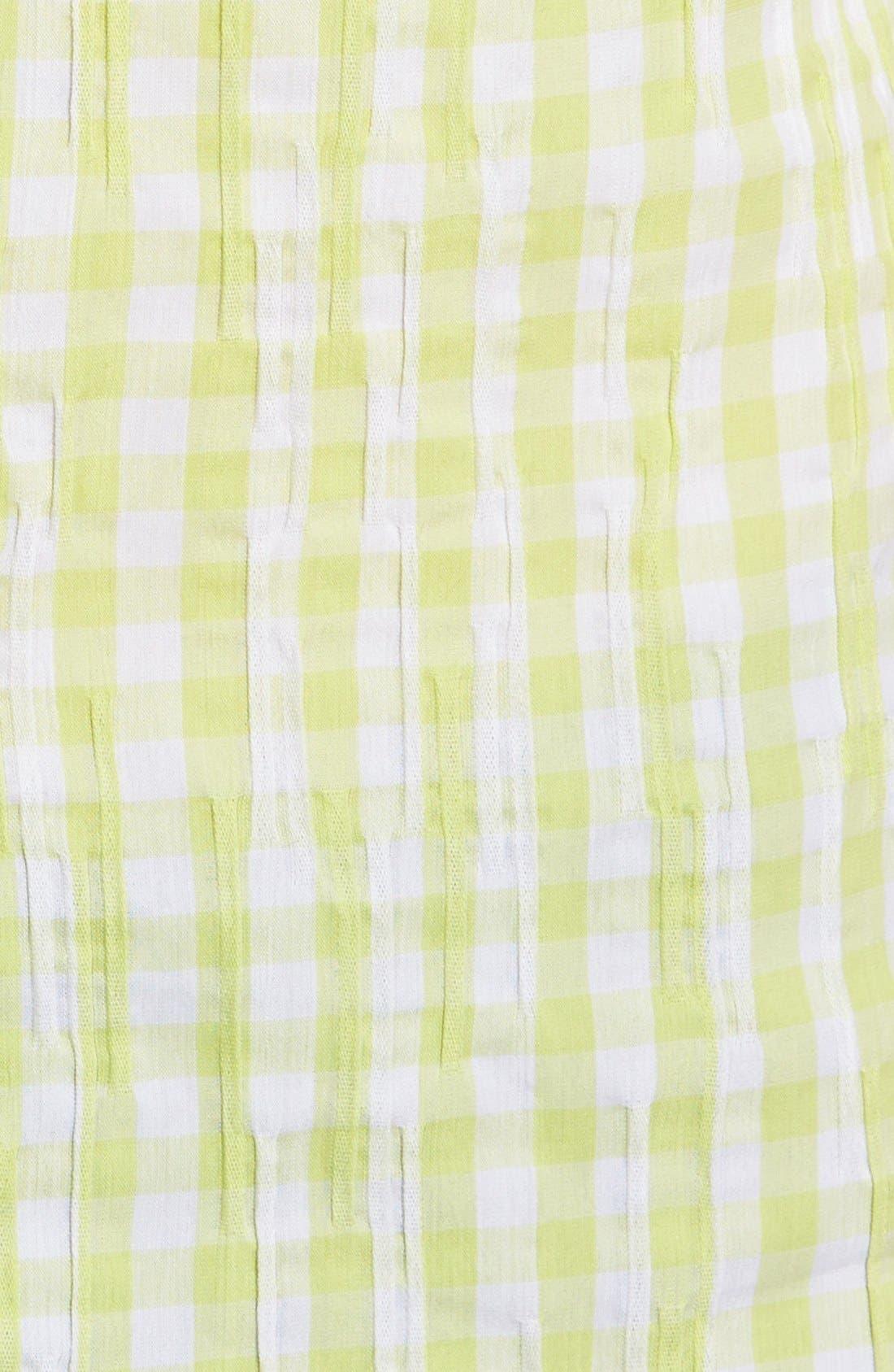 Crinkled Gingham Shirt,                             Alternate thumbnail 13, color,