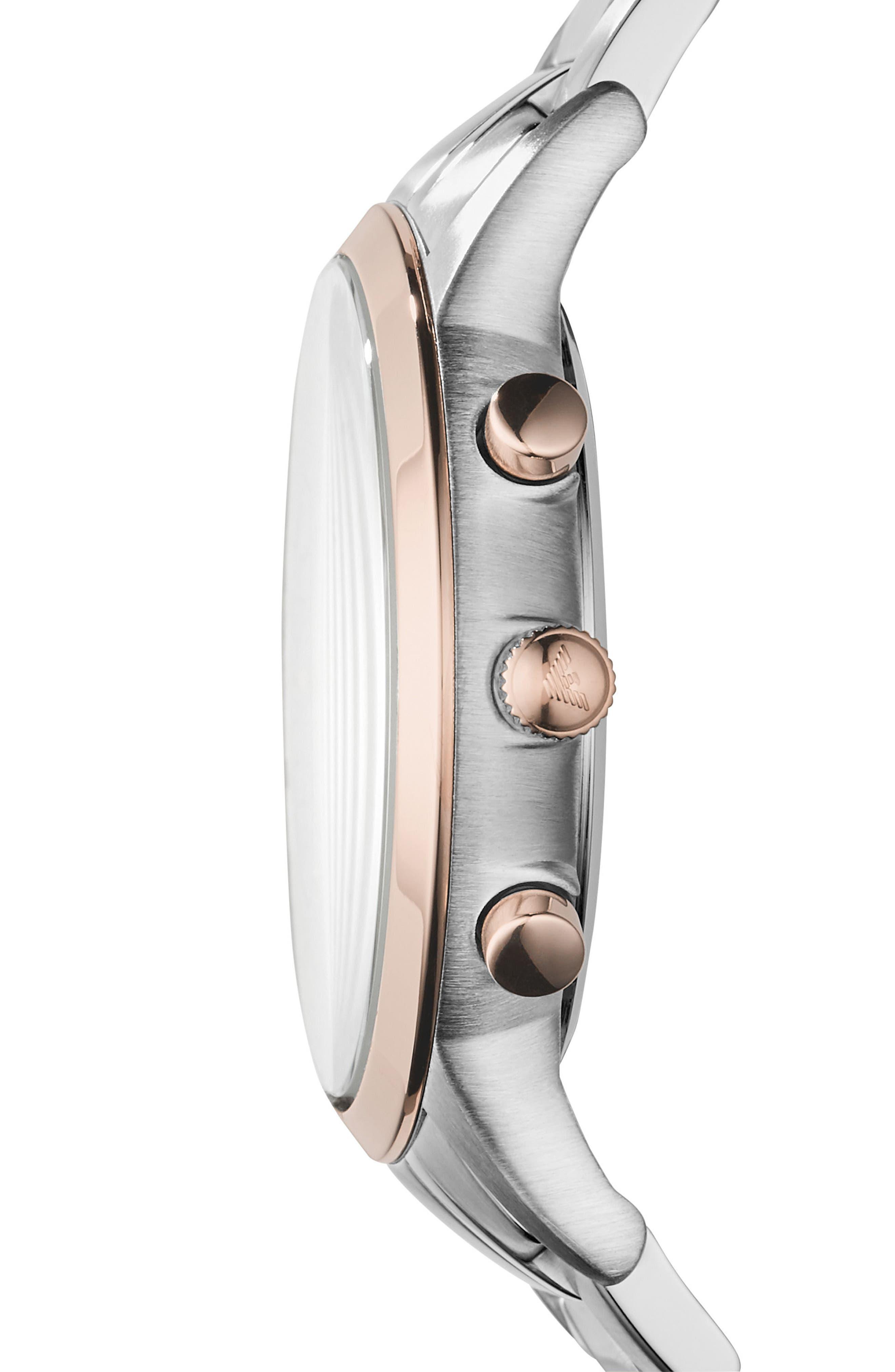 Two-Tone Chronograph Bracelet Watch, 43mm,                             Alternate thumbnail 2, color,                             040
