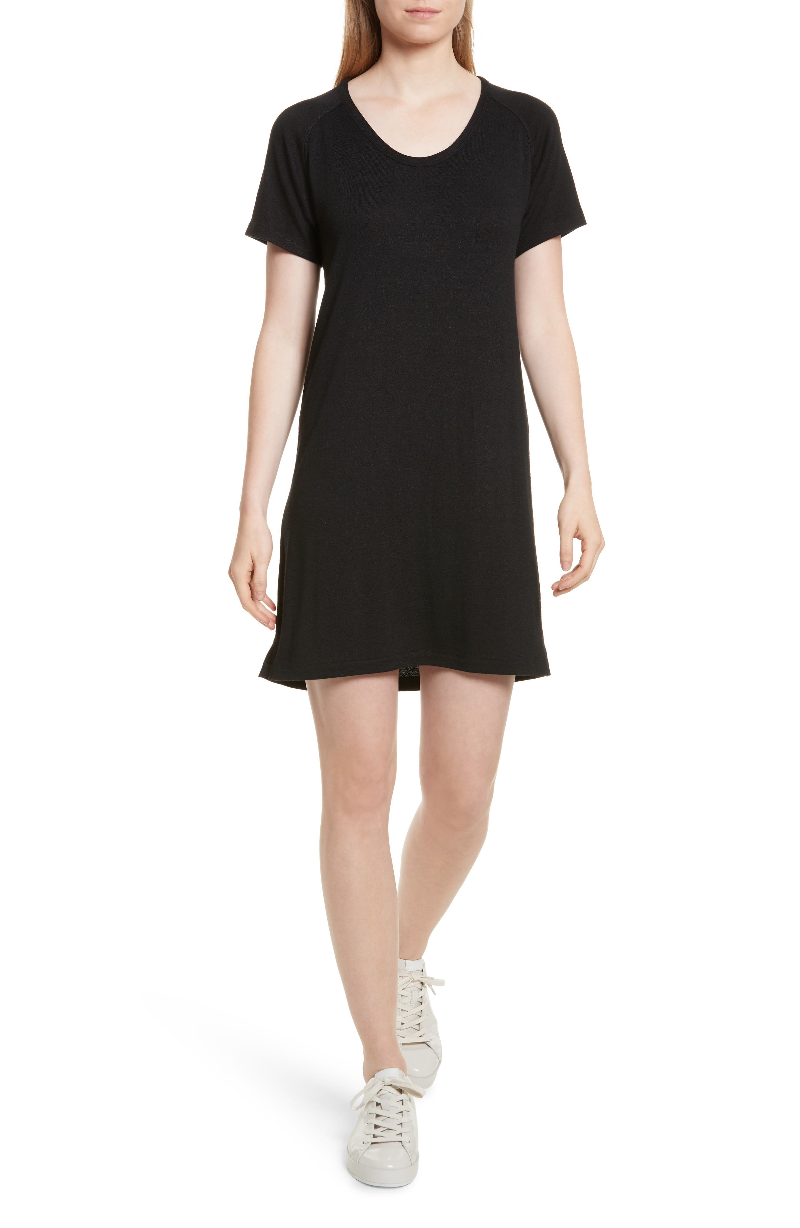 Raglan T-Shirt Dress,                         Main,                         color, 001