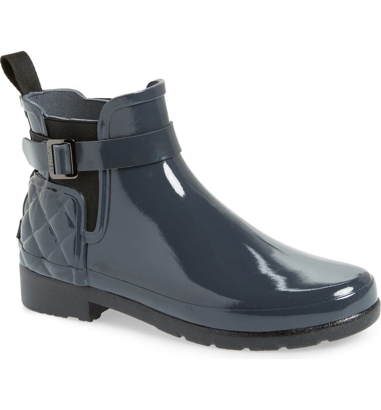 Purchase Hunter Original Refined Quilted Gloss Chelsea Waterproof Boot (Women) Great price