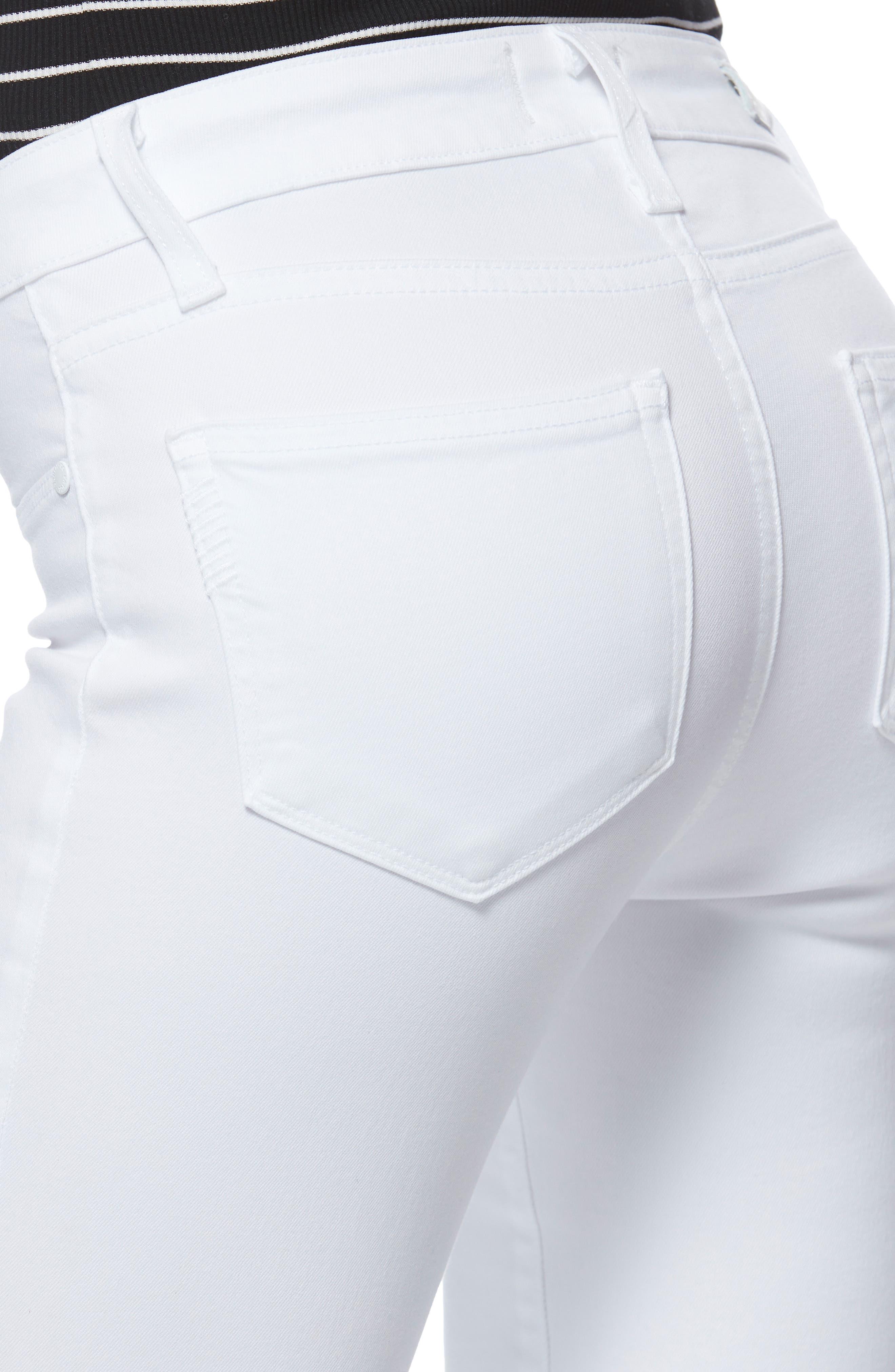 PAIGE,                             Verdugo Faux Pocket Crop Skinny Jeans,                             Alternate thumbnail 5, color,                             VIVID WHITE