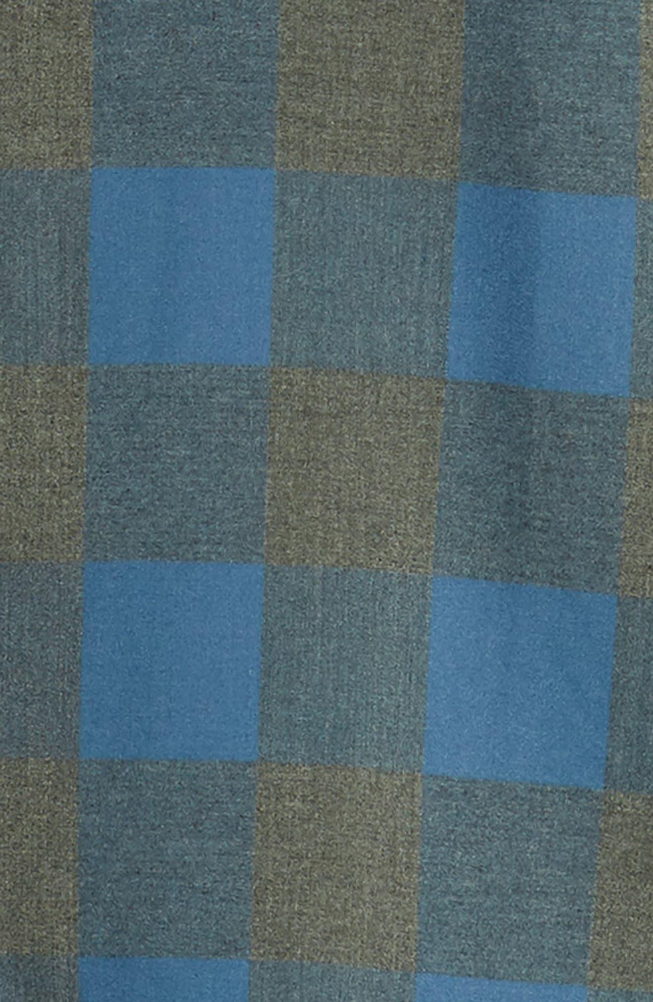 Sierra Regular Fit Flannel Sport Shirt,                             Alternate thumbnail 6, color,                             GREY