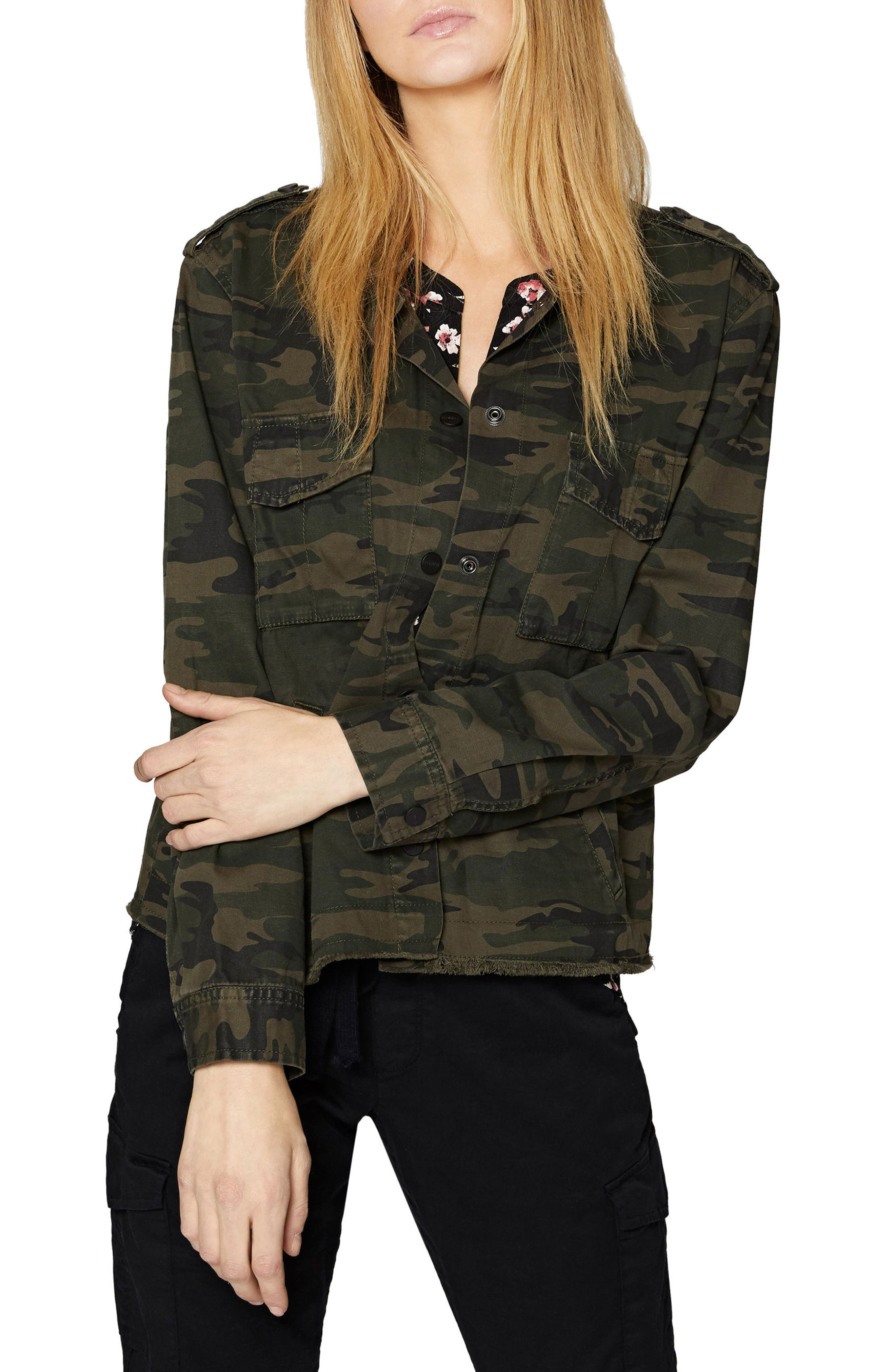 SANCTUARY In the Fray Military Jacket, Main, color, 398