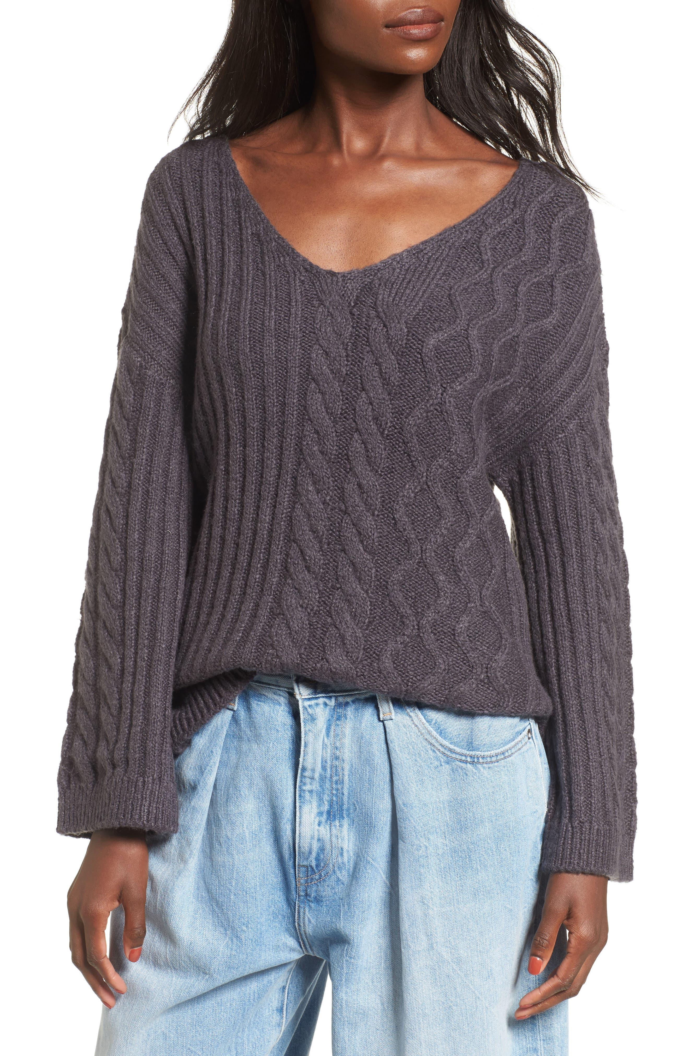 Mix Stitch Cotton Blend Sweater,                             Main thumbnail 1, color,