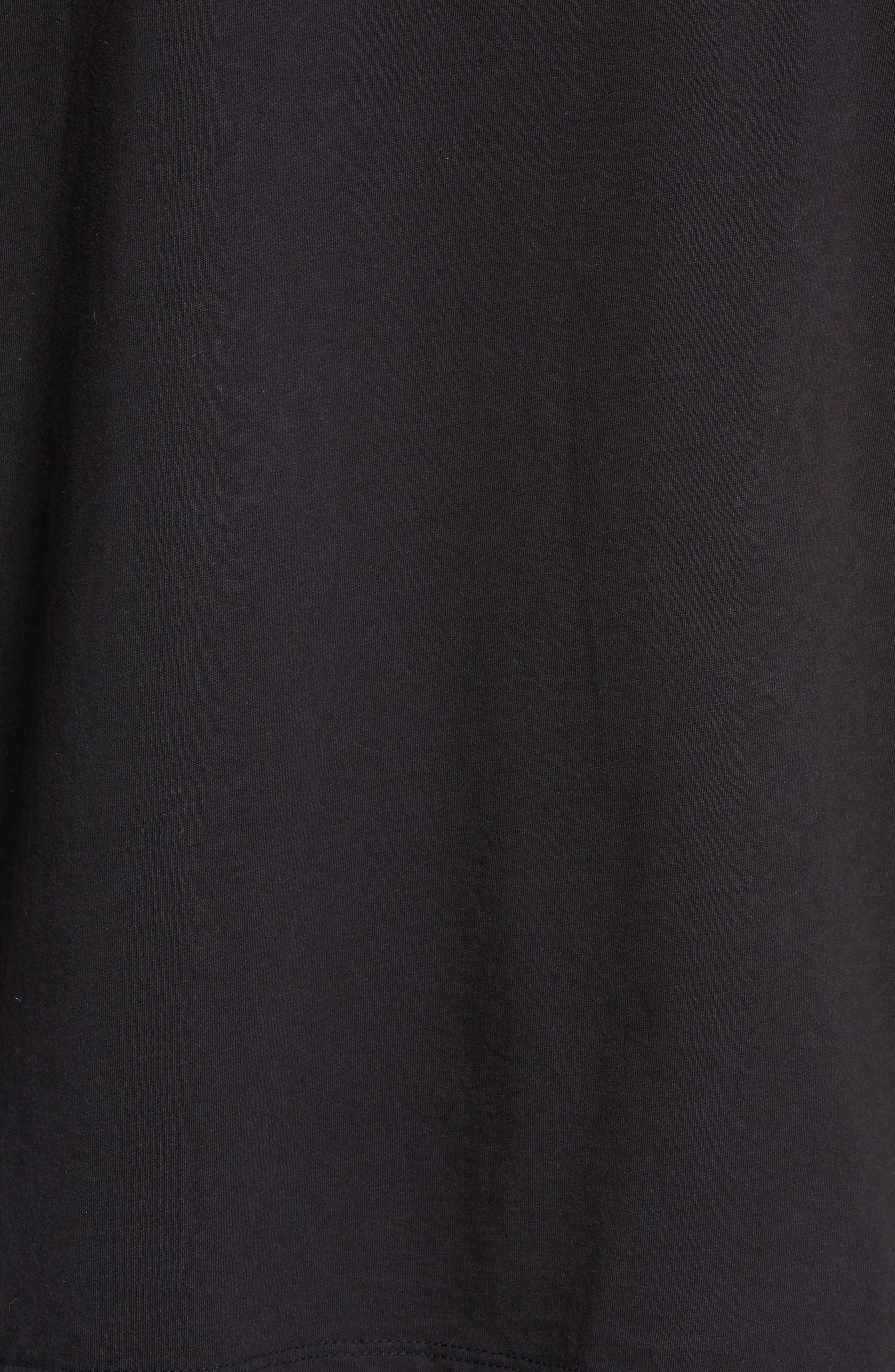Same Old Madness Oversize T-Shirt,                             Alternate thumbnail 5, color,                             BLACK