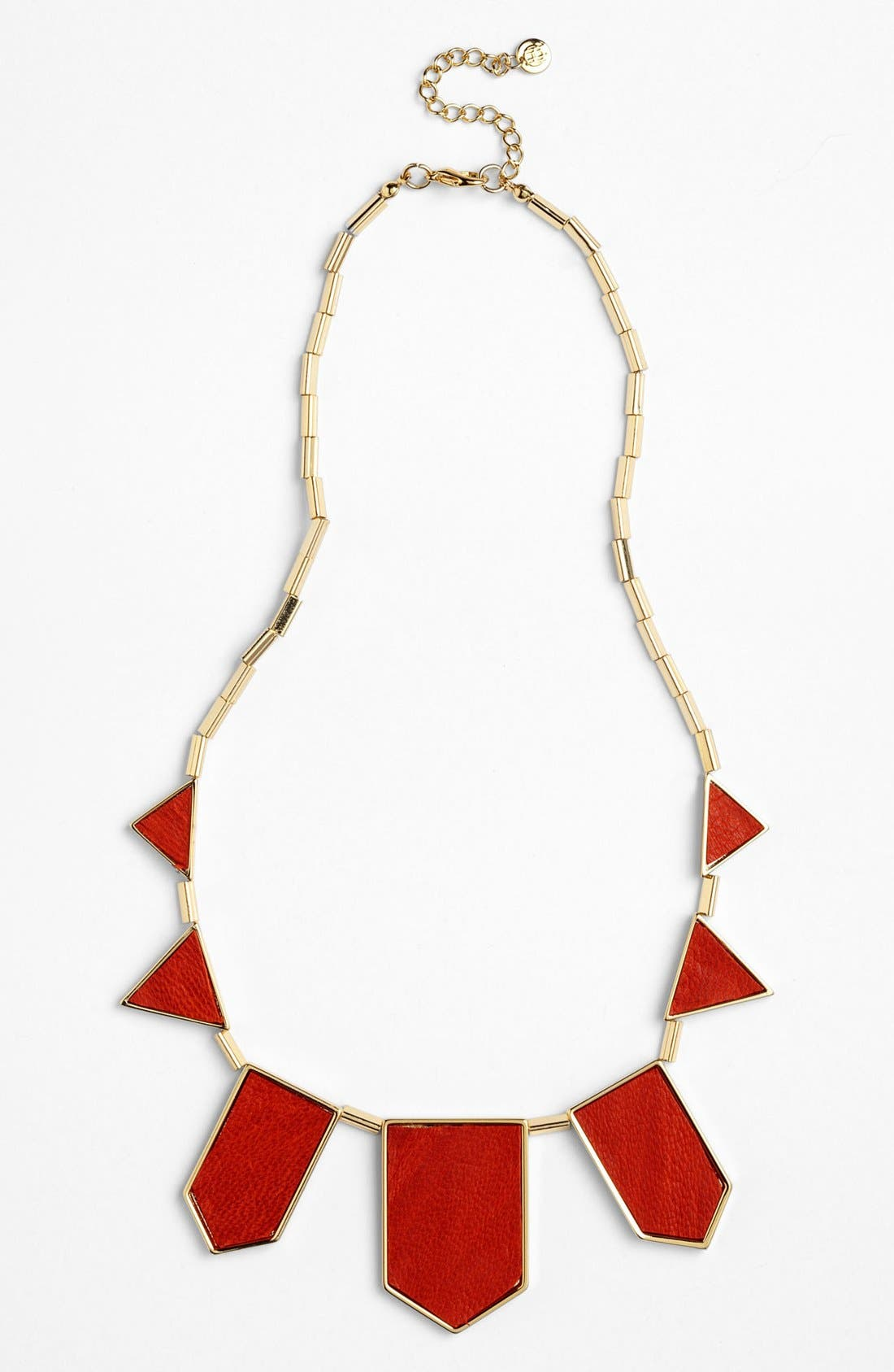 Leather Station Necklace,                             Main thumbnail 14, color,