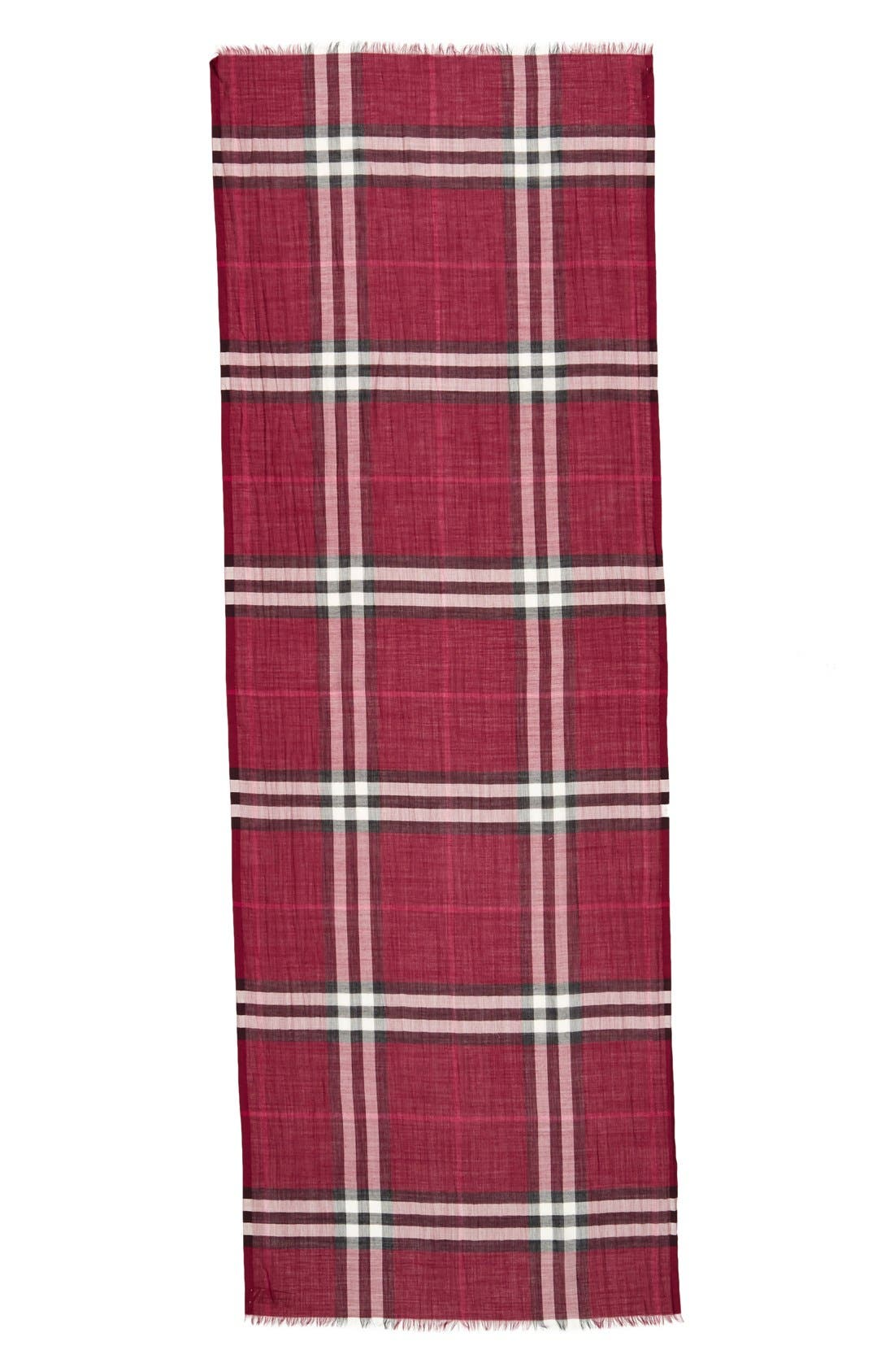 Giant Check Print Wool & Silk Scarf,                             Alternate thumbnail 148, color,