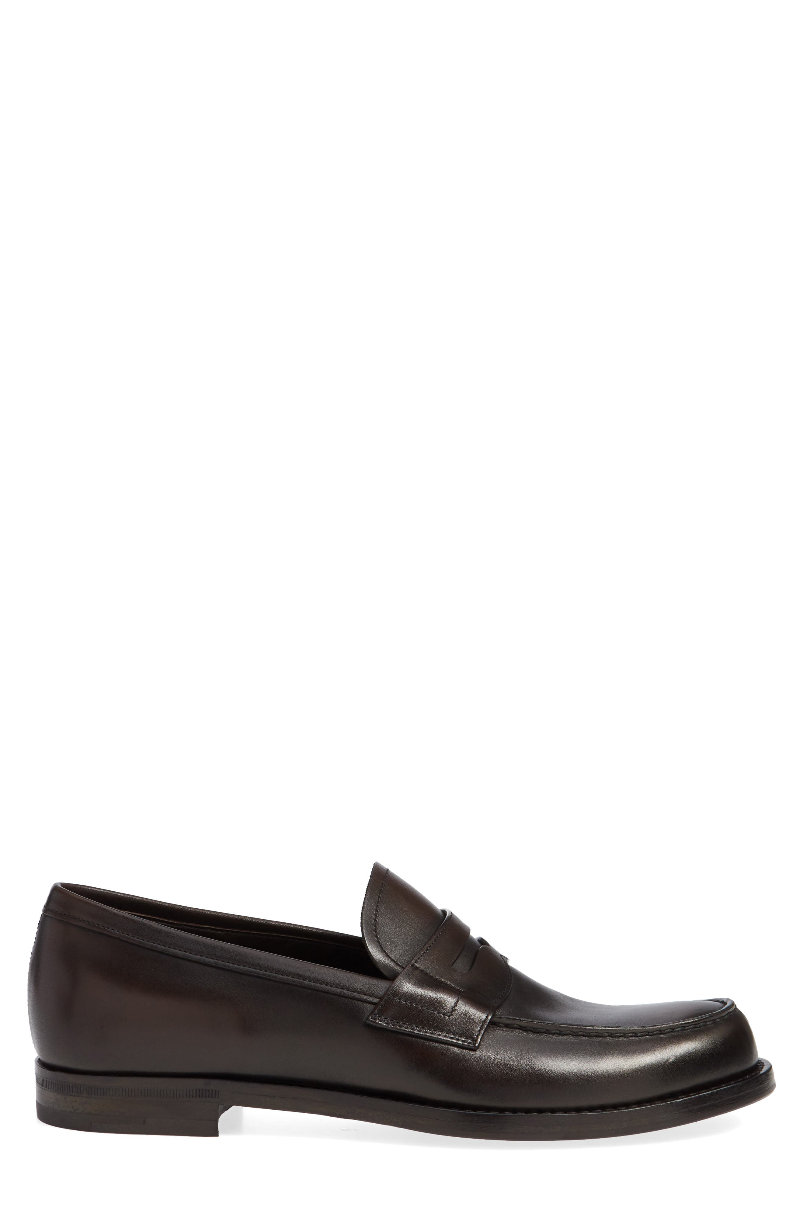 Penny Loafer,                             Alternate thumbnail 3, color,                             MORO BROWN