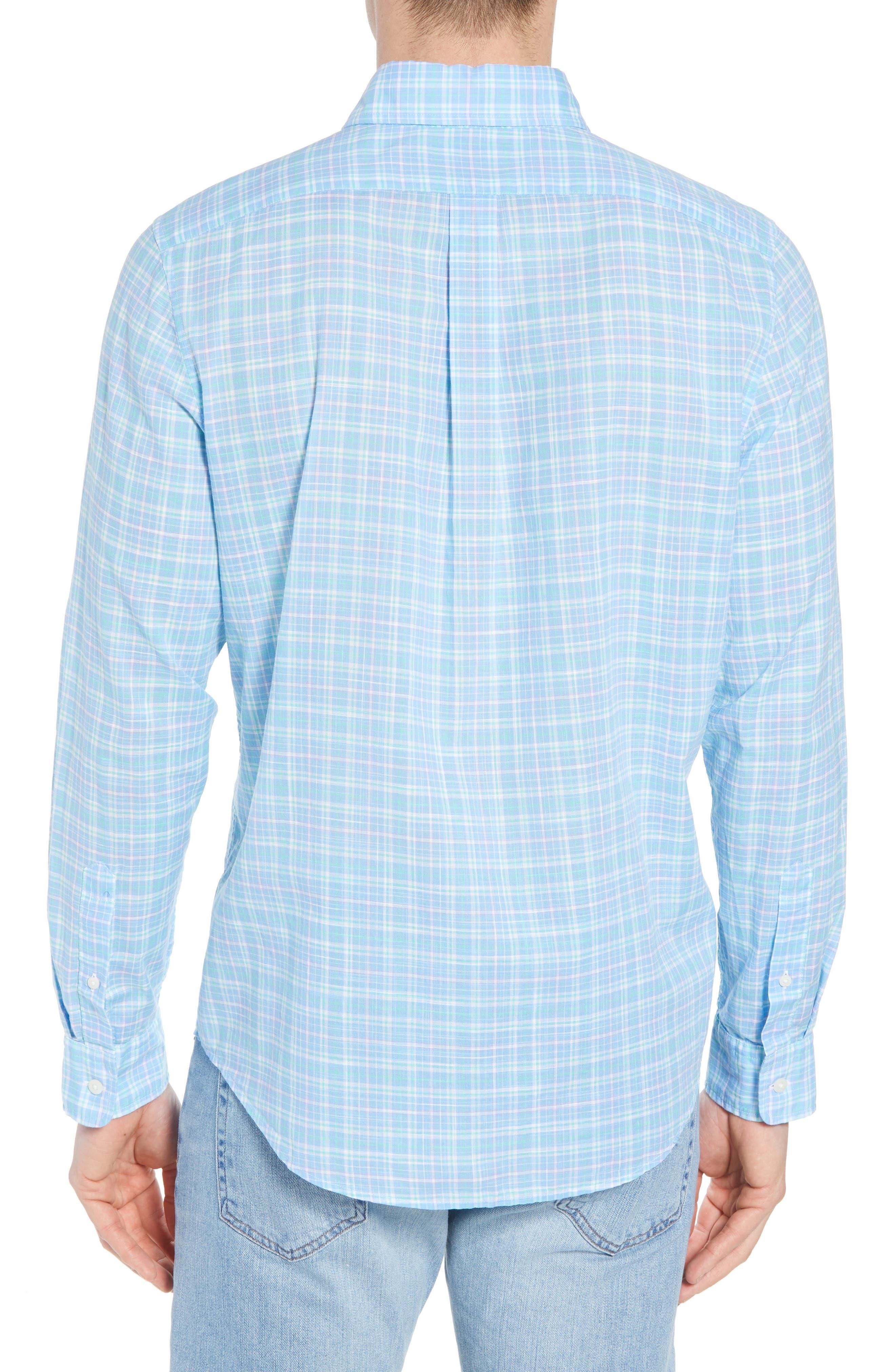 Stoney Hill Tucker Classic Fit Plaid Sport Shirt,                             Alternate thumbnail 3, color,                             415