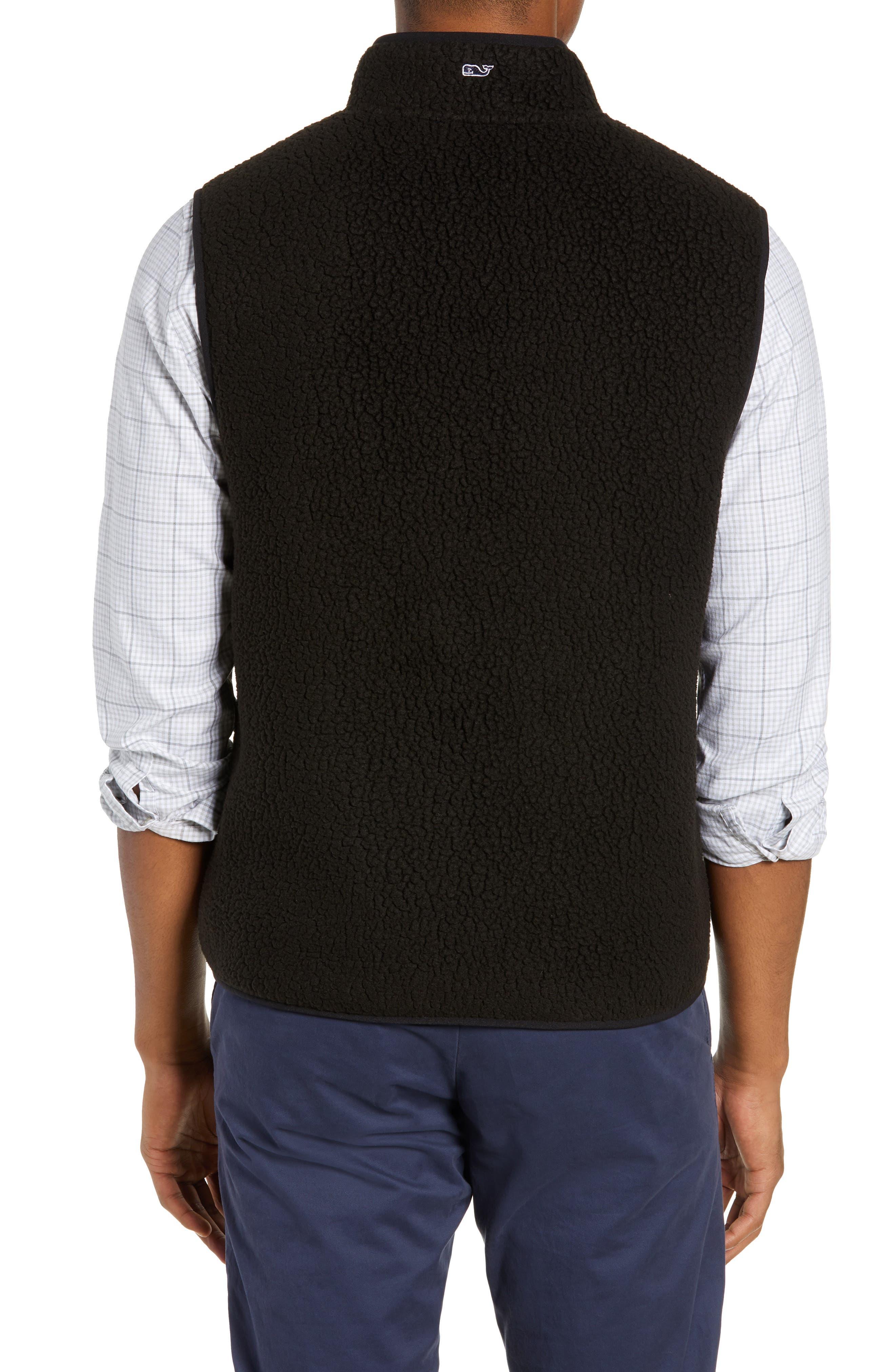 Harbor Regular Fit Fleece Vest,                             Alternate thumbnail 2, color,                             JET BLACK
