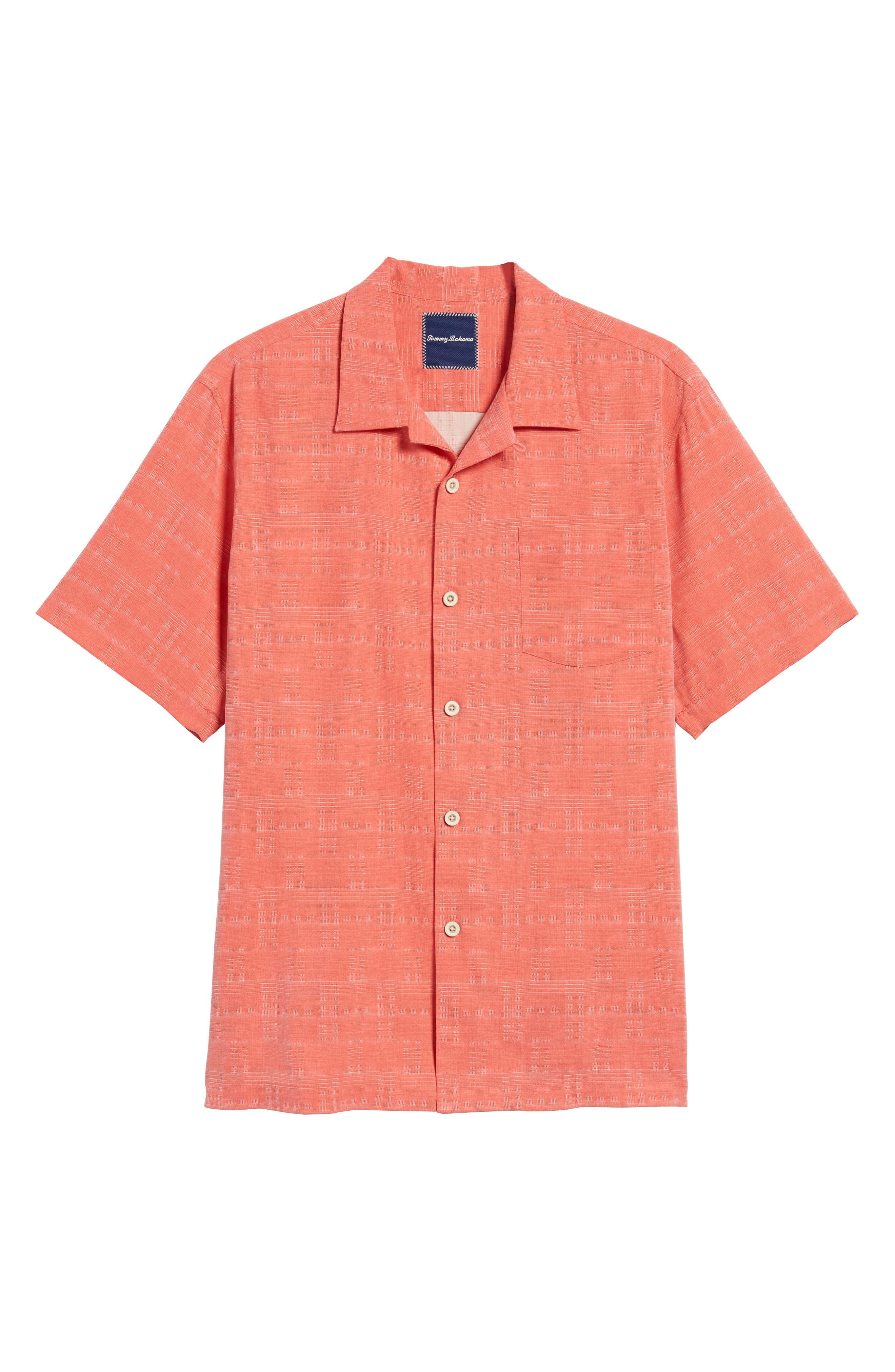 'Geo-Rific Jacquard' Original Fit Silk Camp Shirt,                             Alternate thumbnail 43, color,
