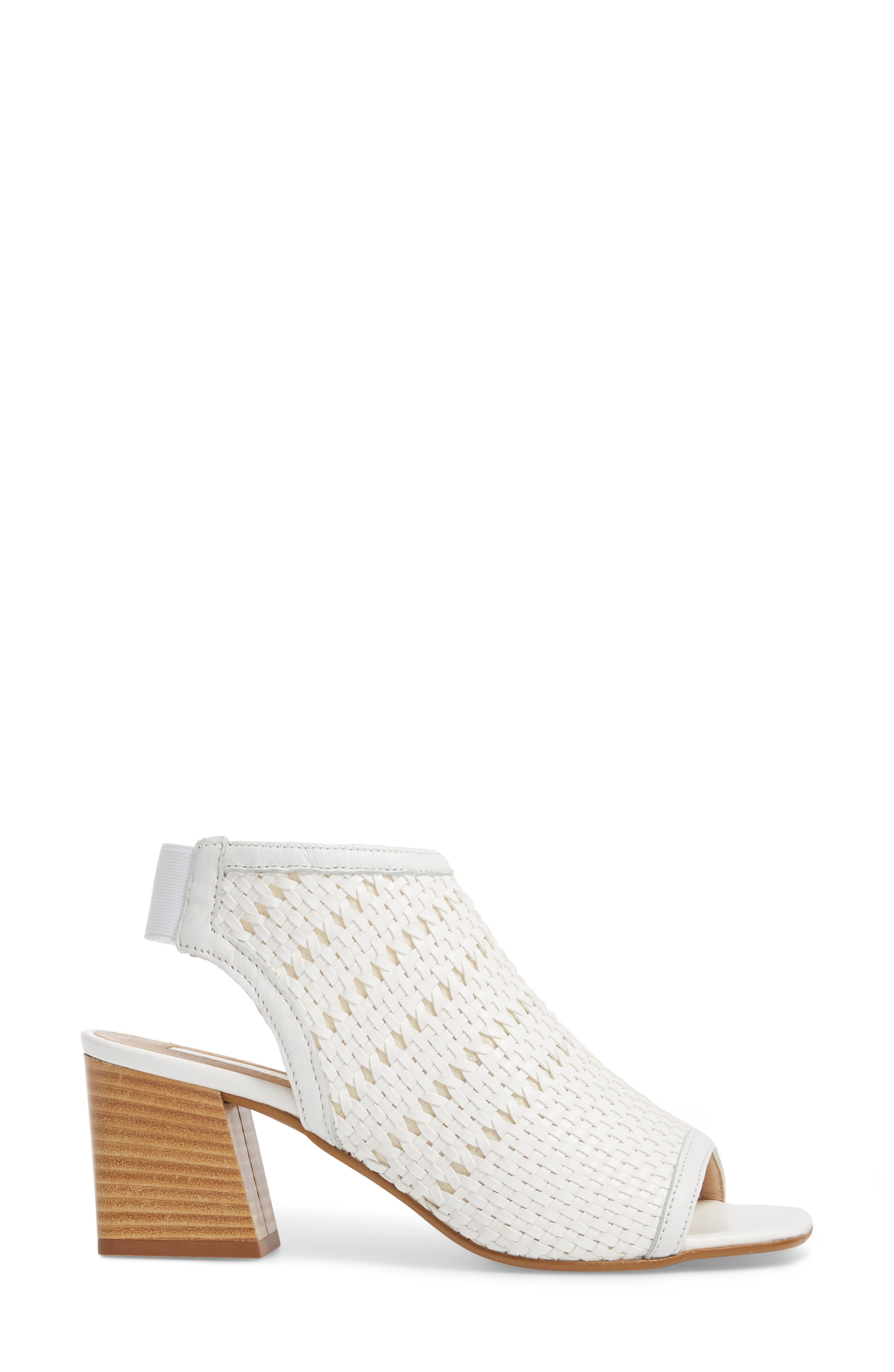 Nifty Woven Flared Heel Sandal,                             Alternate thumbnail 6, color,