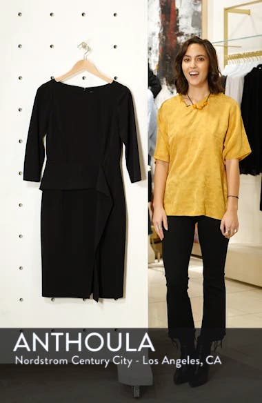 Angled Ruffle Sheath Dress, sales video thumbnail