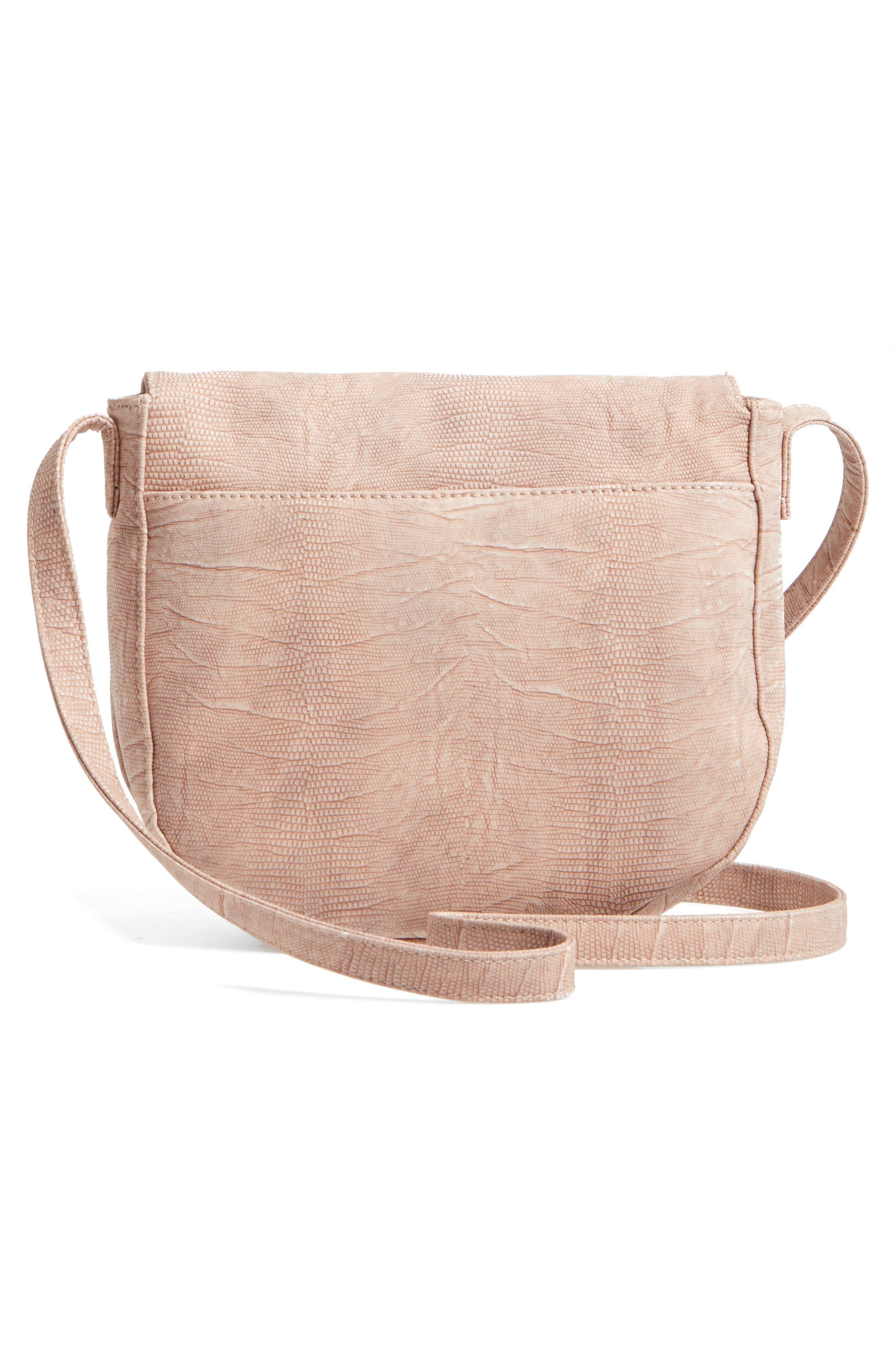 Livvy Faux Leather Crossbody Saddle Bag,                             Alternate thumbnail 8, color,