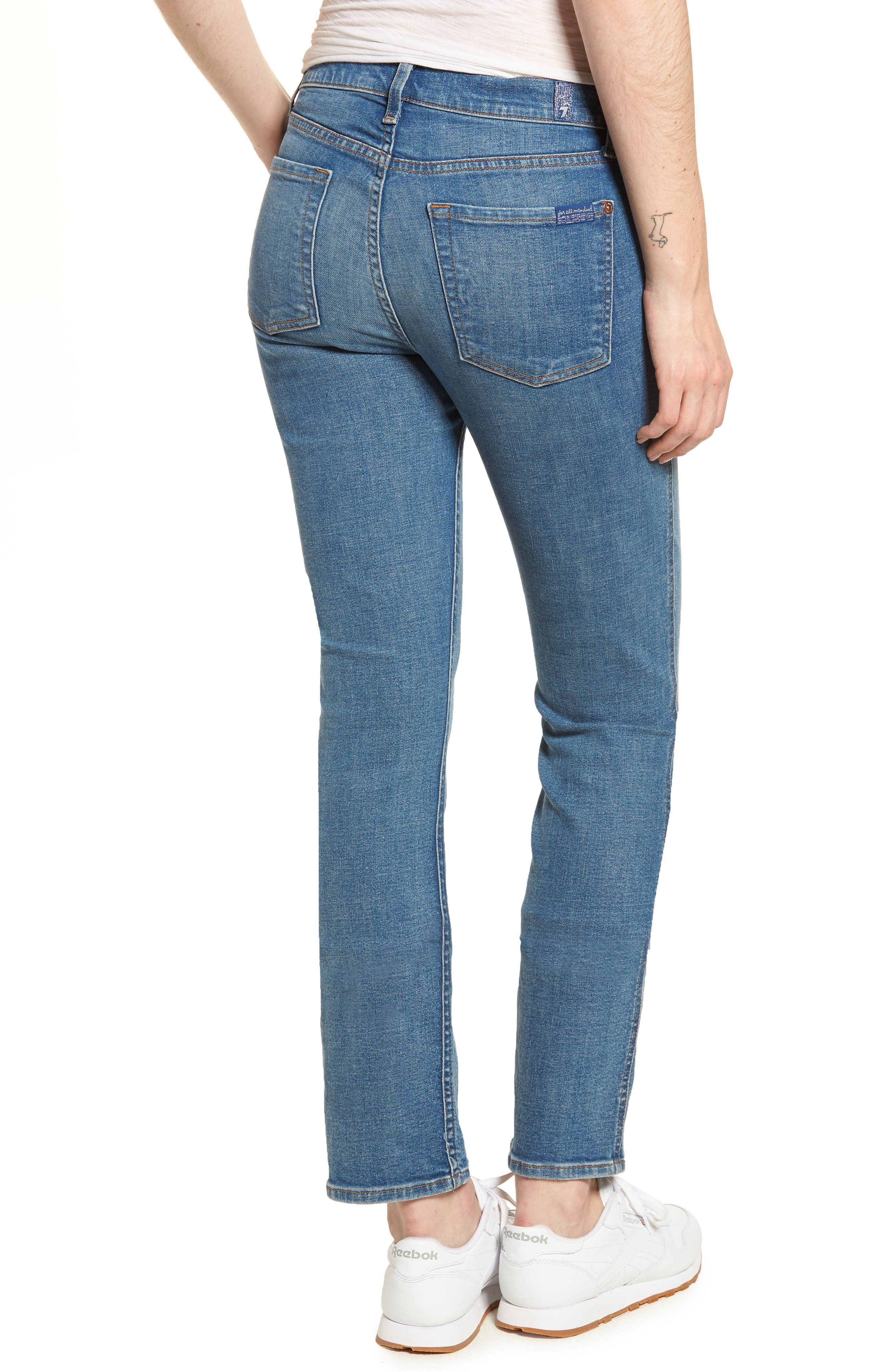 Dylan Straight Leg Jeans,                             Alternate thumbnail 2, color,                             400