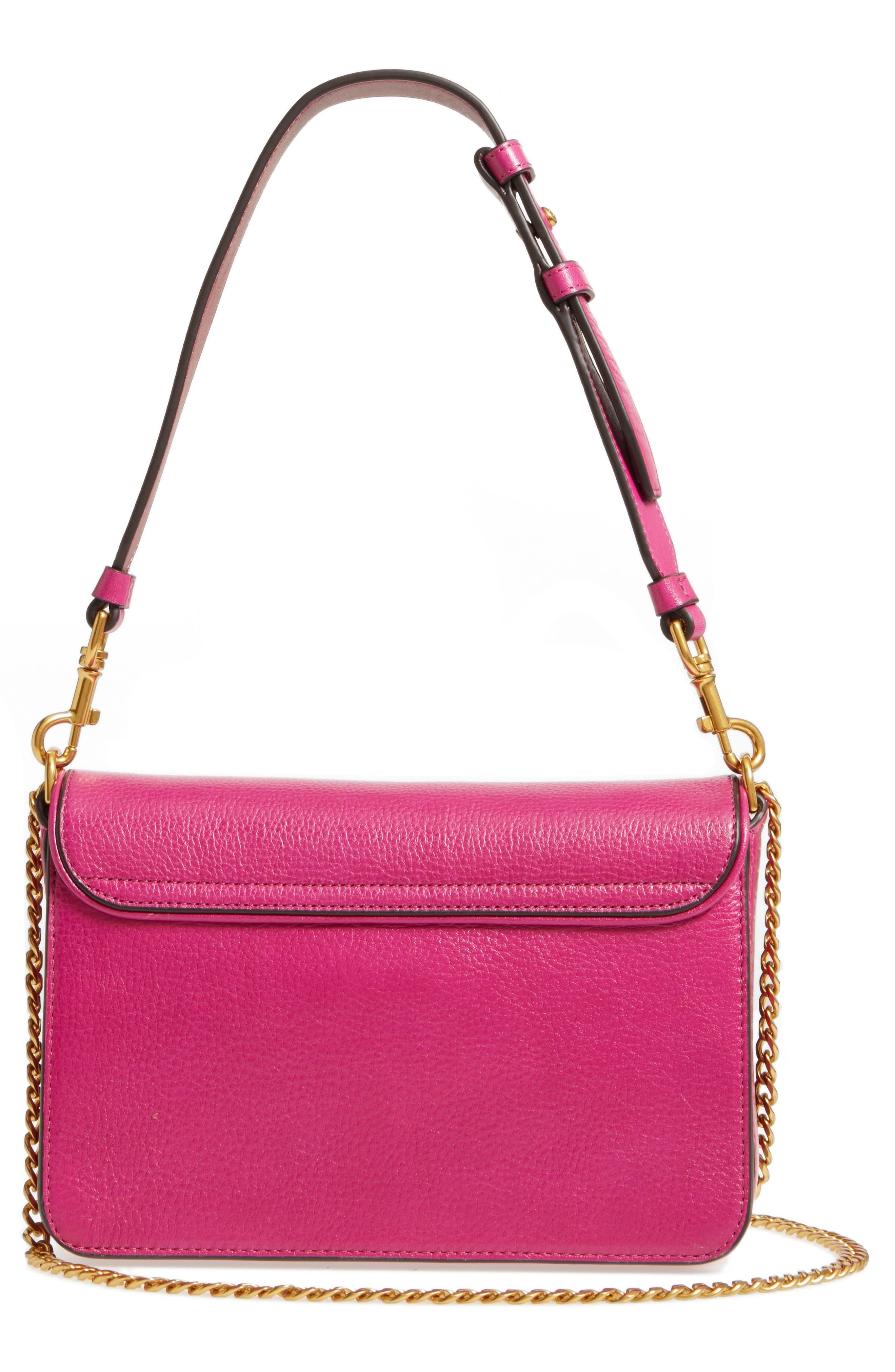Chelsea Genuine Leather Shoulder Bag,                             Alternate thumbnail 3, color,                             650