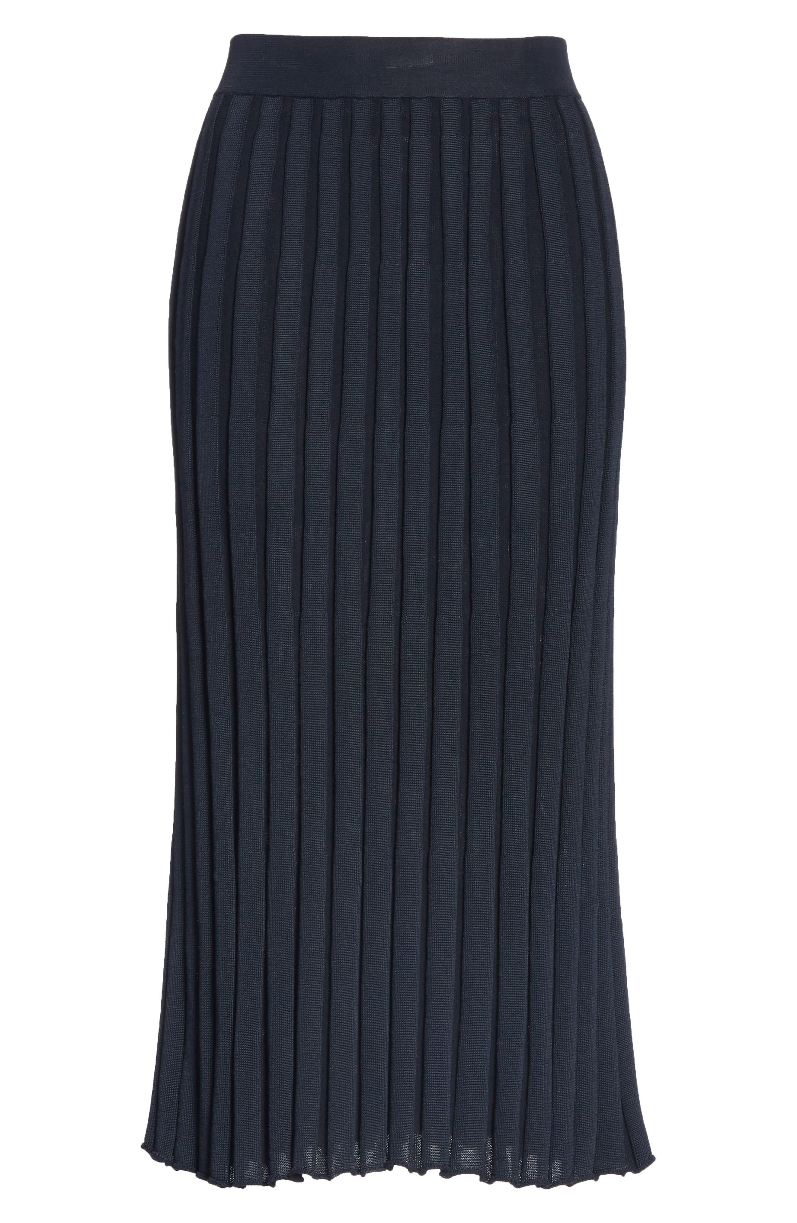 Metropolitan Shine Plaited Rib Skirt,                             Alternate thumbnail 6, color,                             400