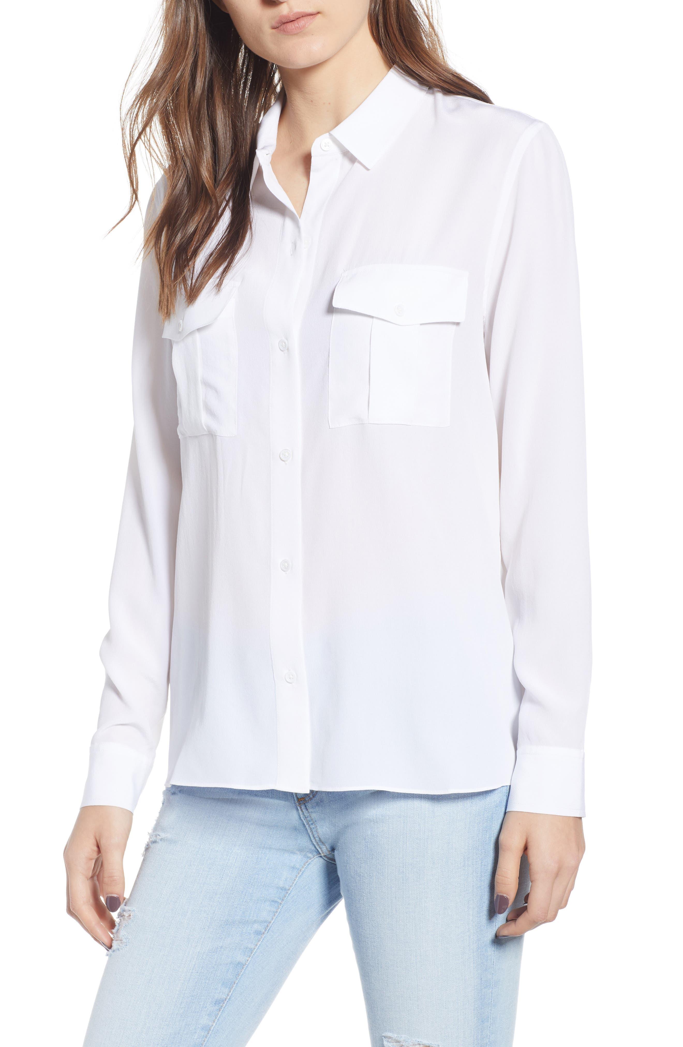 Rhett Silk Shirt, Main, color, IVORY