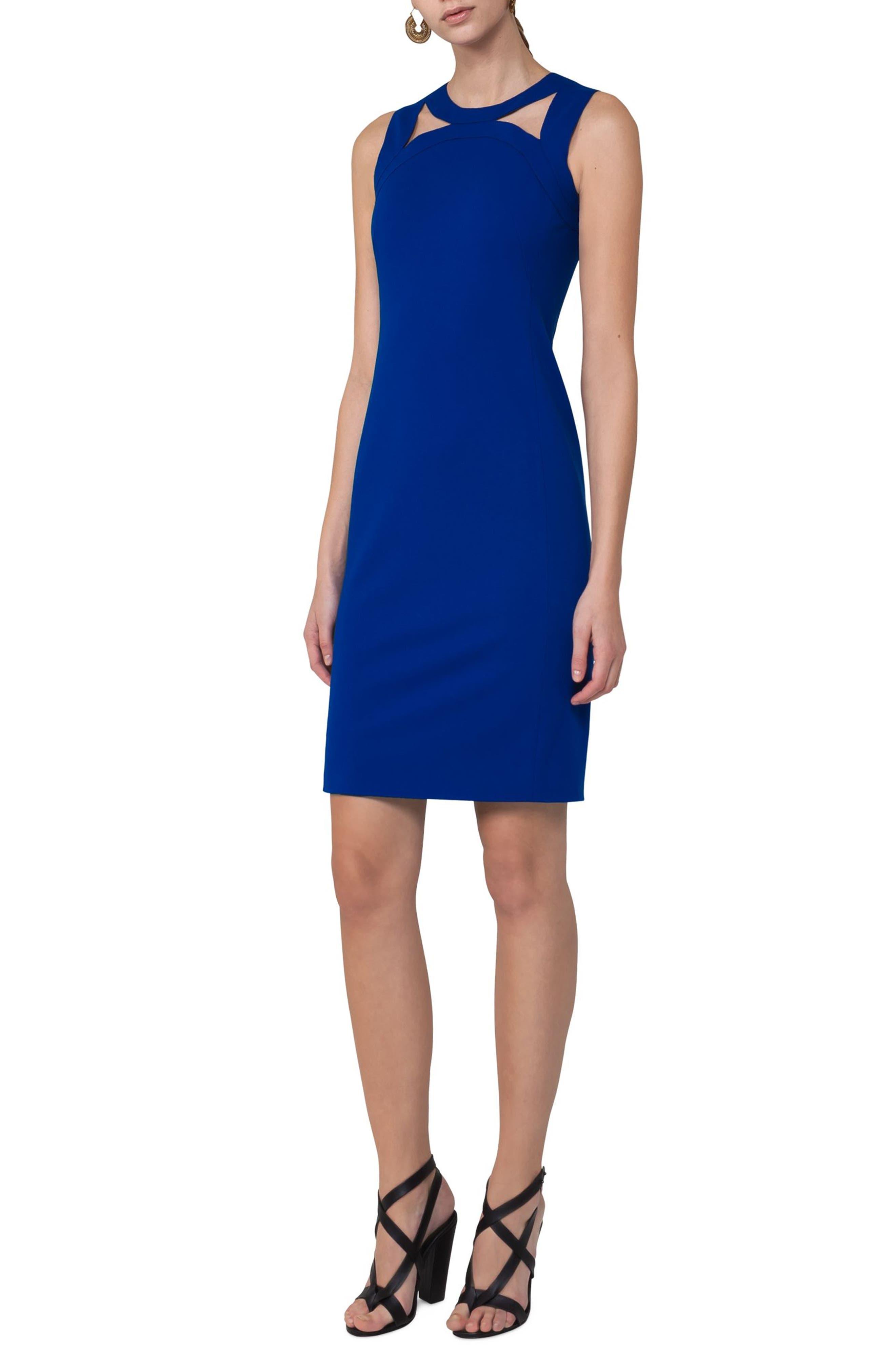 Cutout Neckline Jersey Dress,                             Alternate thumbnail 3, color,                             400