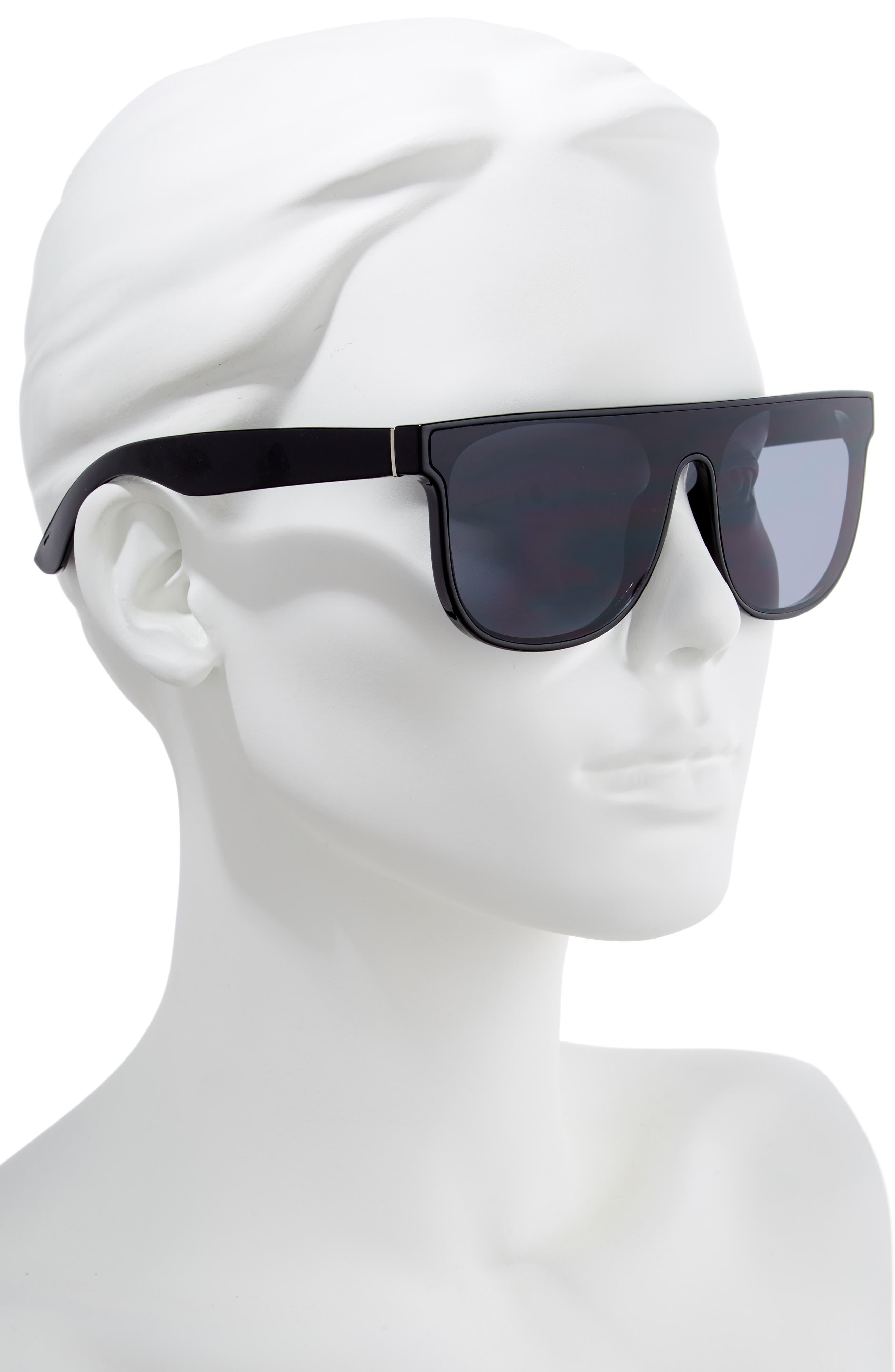 60mm Shield Sunglasses,                             Alternate thumbnail 2, color,                             001