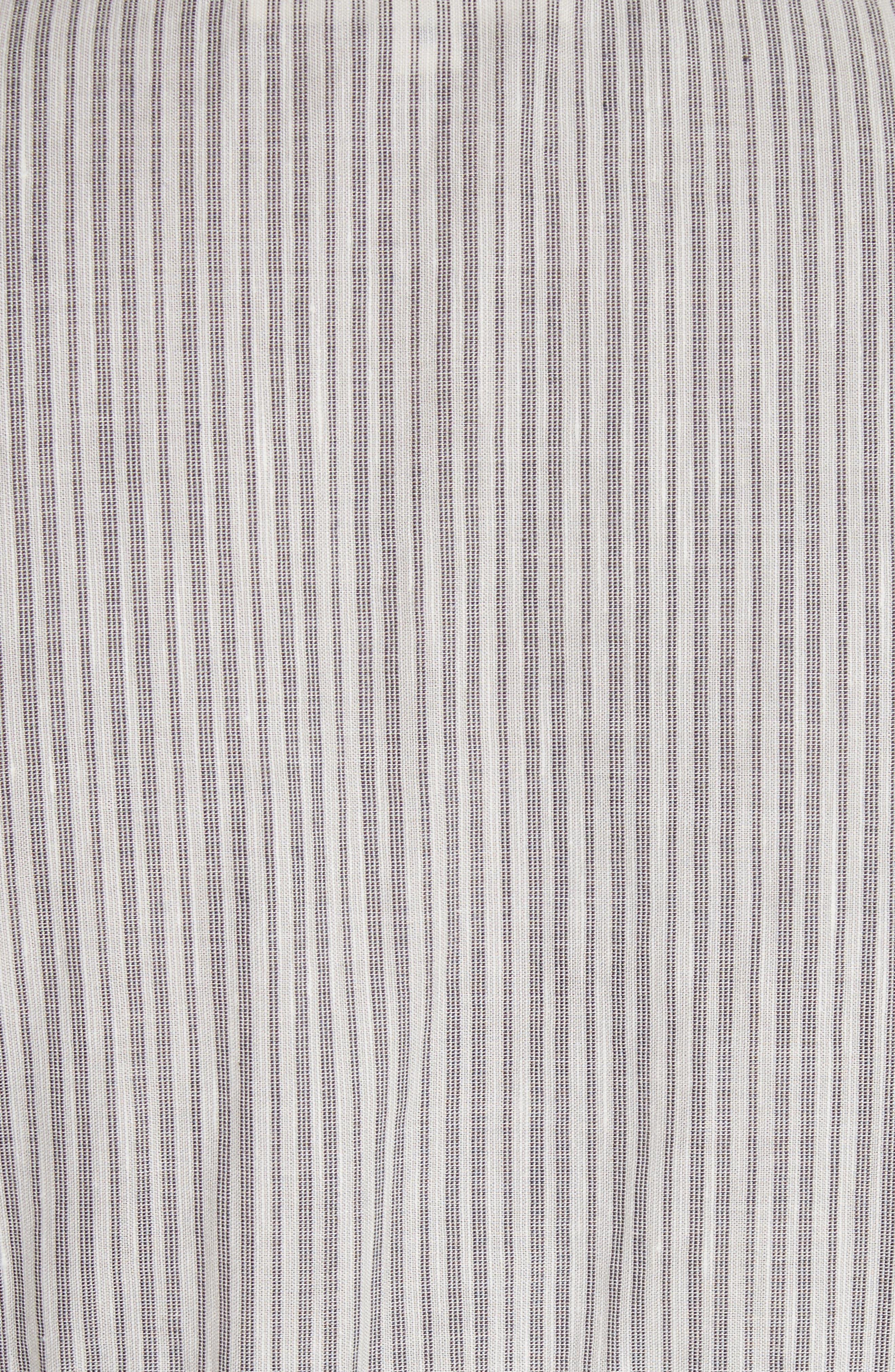 Eyelet Trim Stripe Top,                             Alternate thumbnail 5, color,                             908