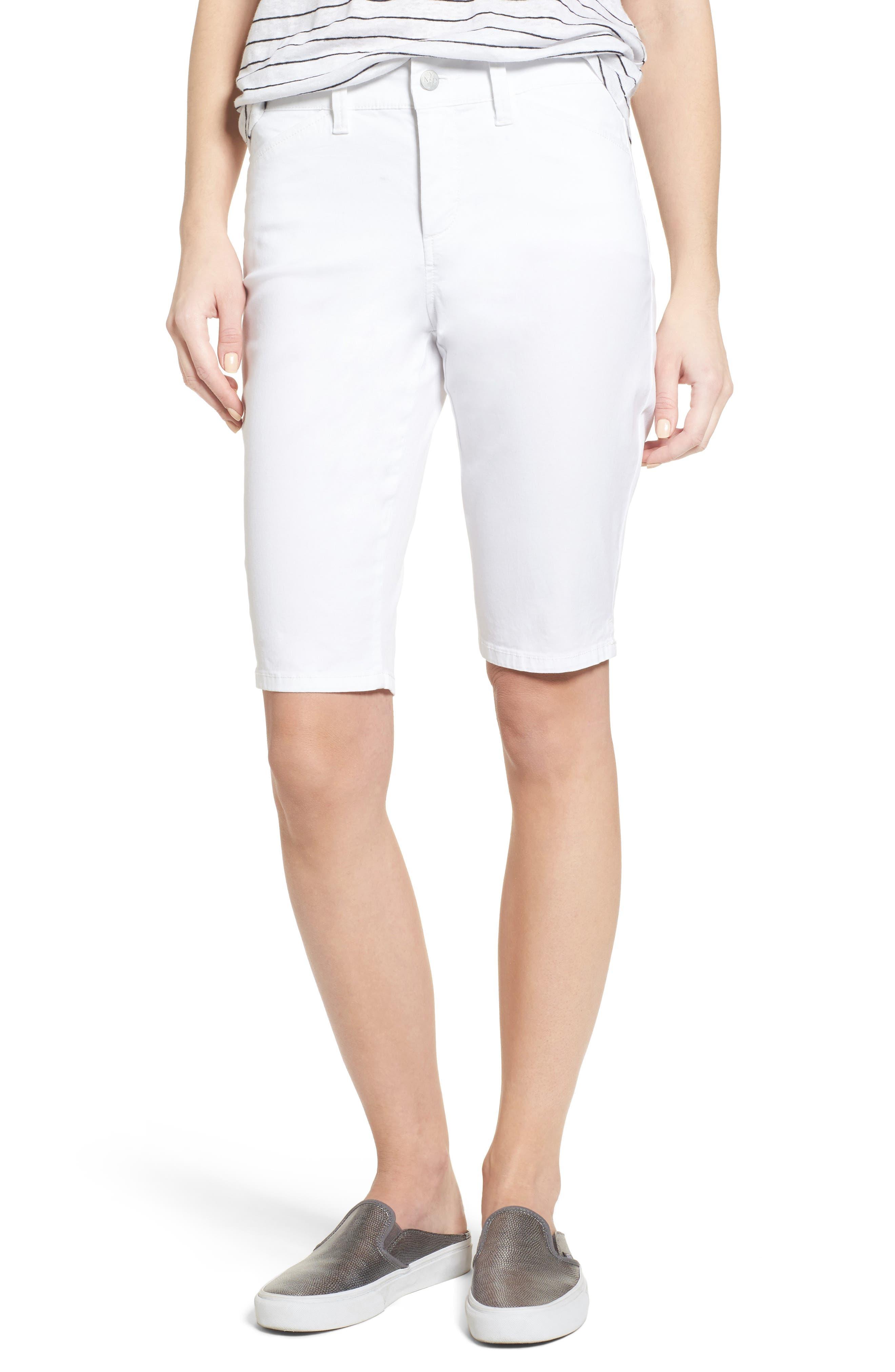 Stretch Twill Bermuda Shorts,                         Main,                         color, OPTIC WHITE