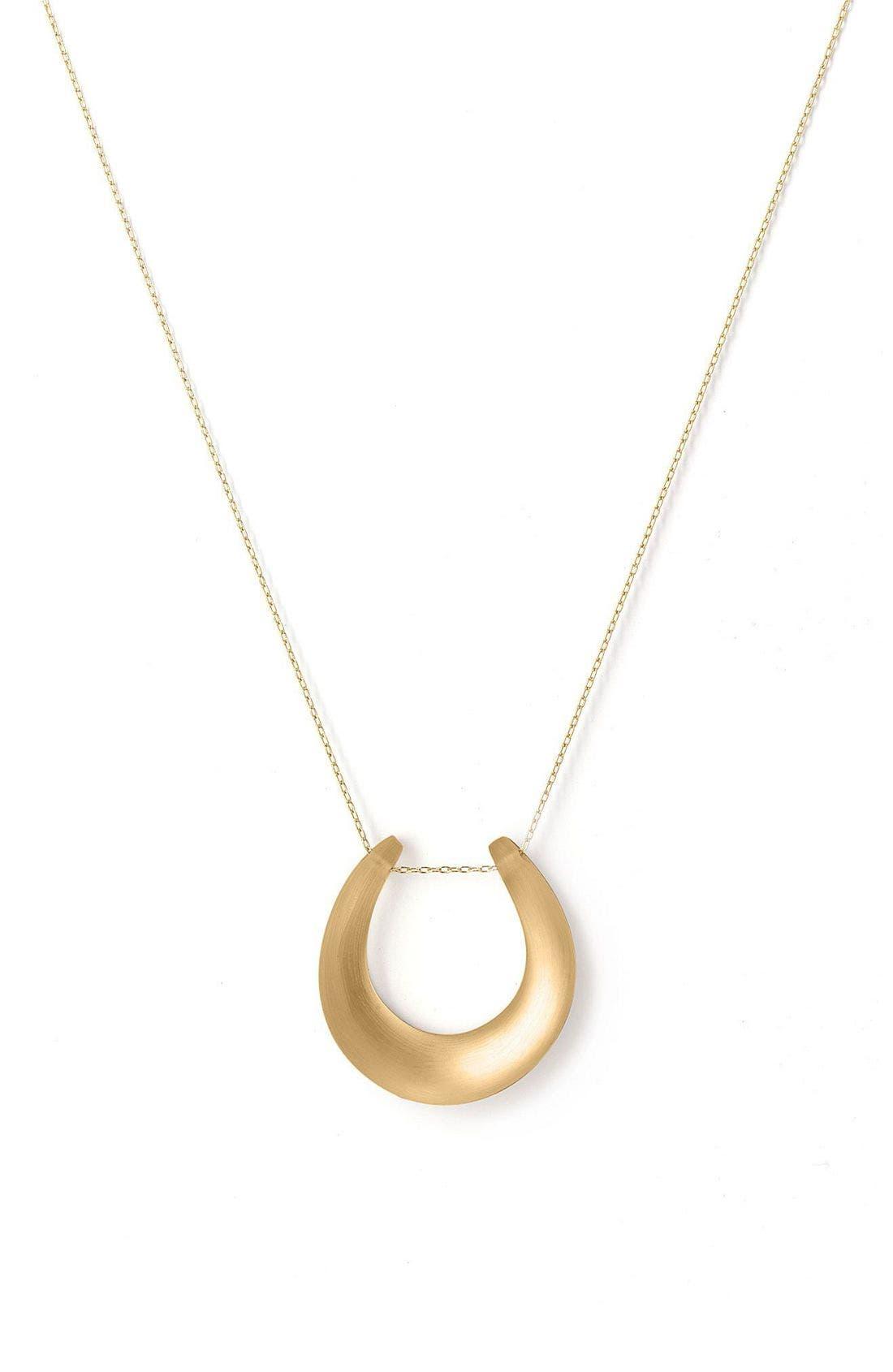 Small Horseshoe Necklace,                             Main thumbnail 9, color,