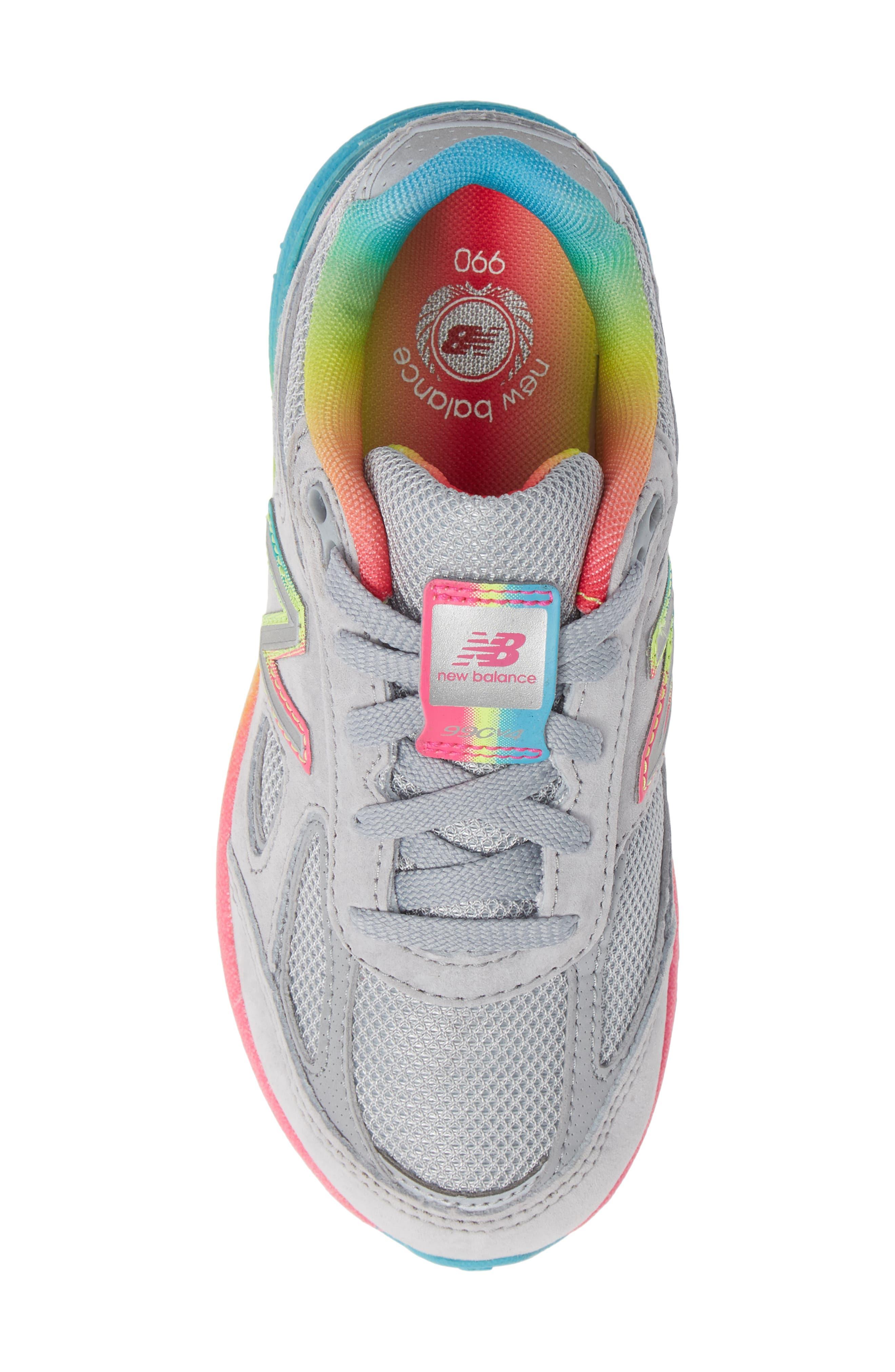 990v4 Sneaker,                             Alternate thumbnail 5, color,                             ATHLETIC GREY/ MULTI