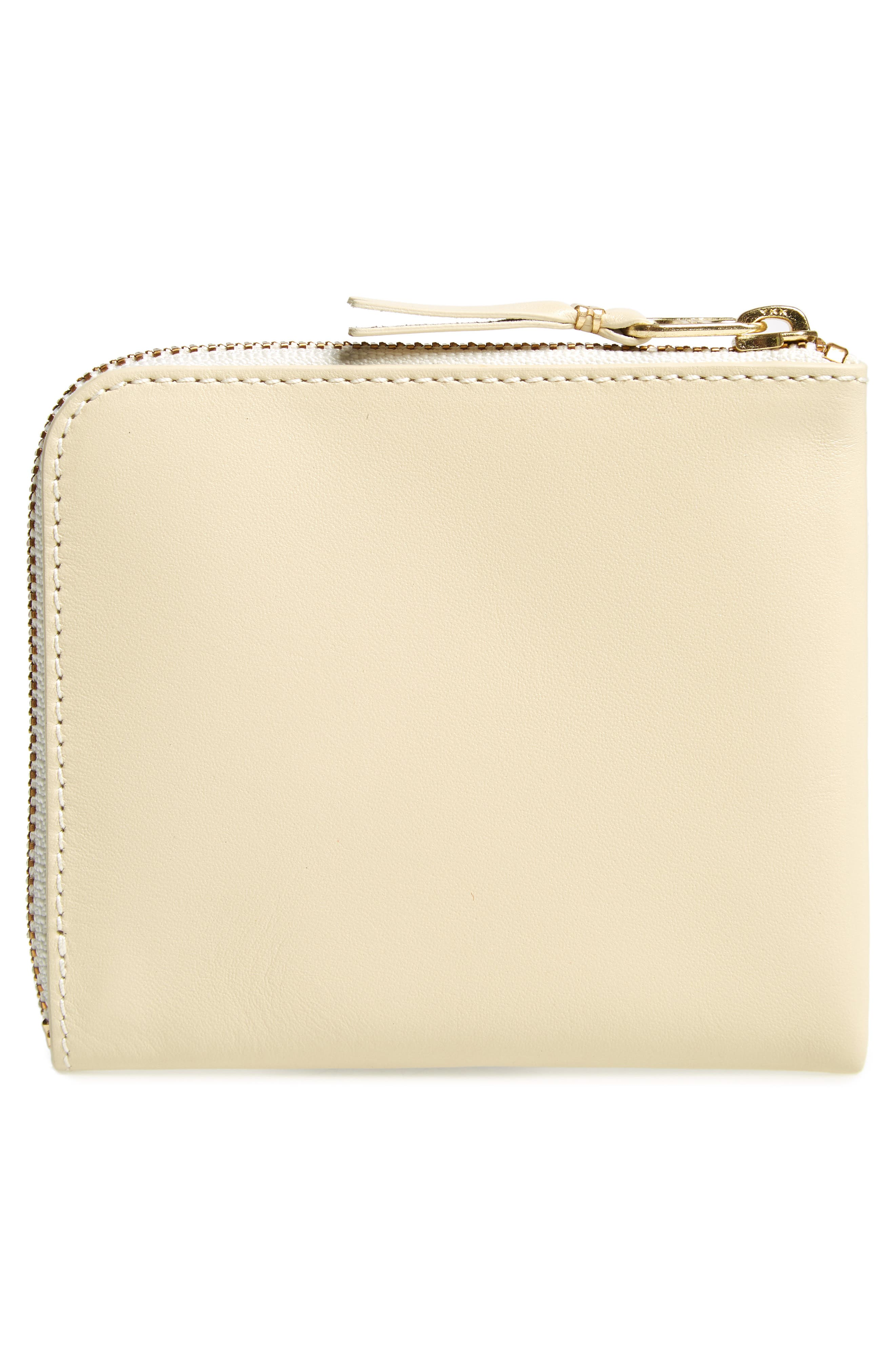 Classic Leather Line Wallet,                             Alternate thumbnail 3, color,                             OFF WHITE