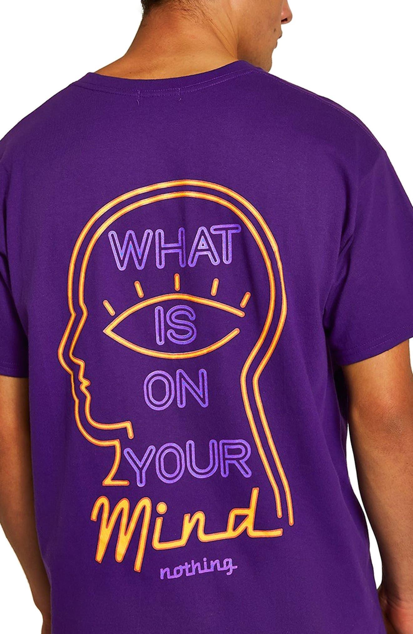 On Your Mind Graphic T-Shirt,                             Alternate thumbnail 3, color,                             PURPLE MULTI