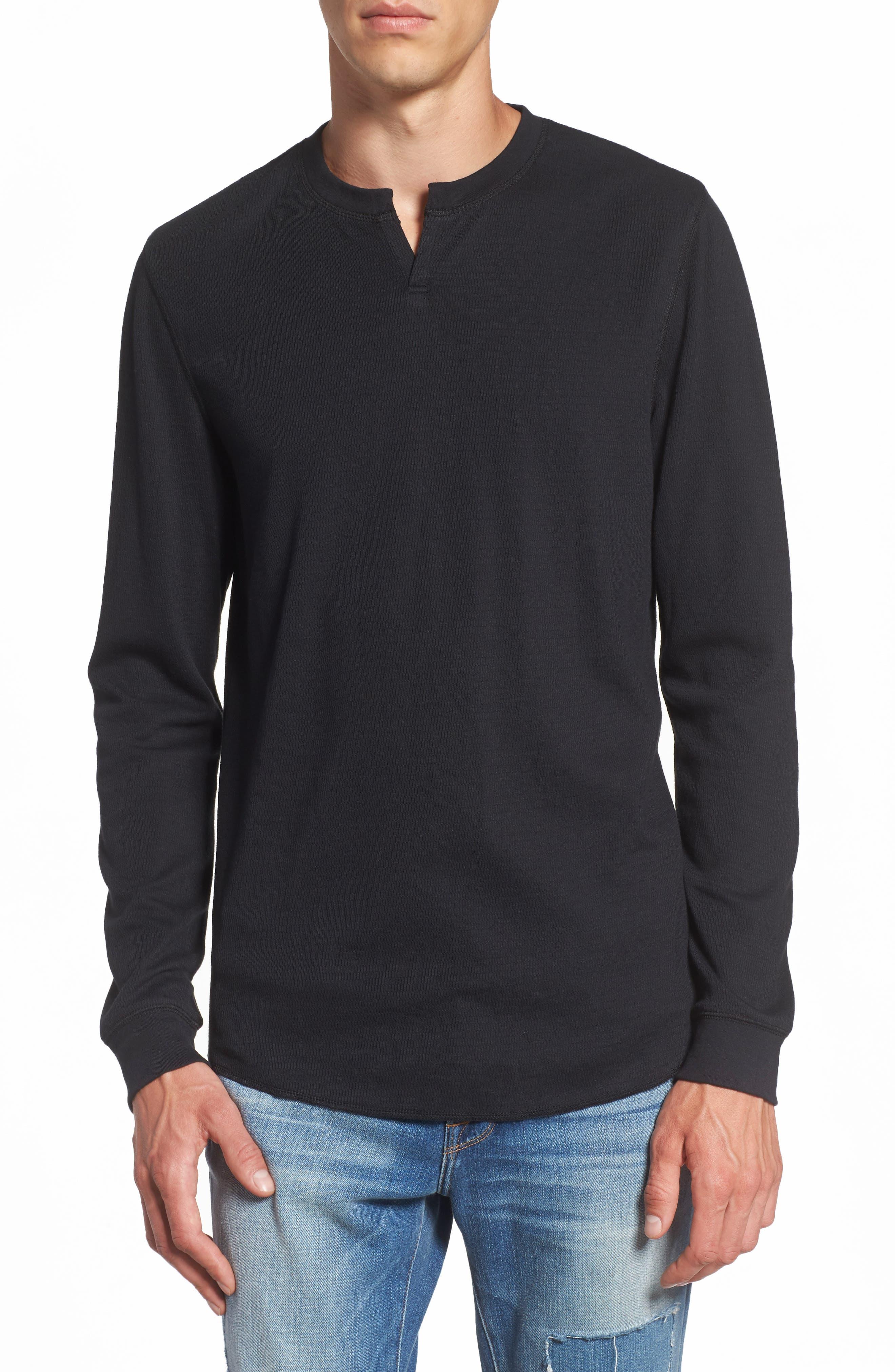 Notch Neck Thermal T-Shirt,                             Main thumbnail 2, color,