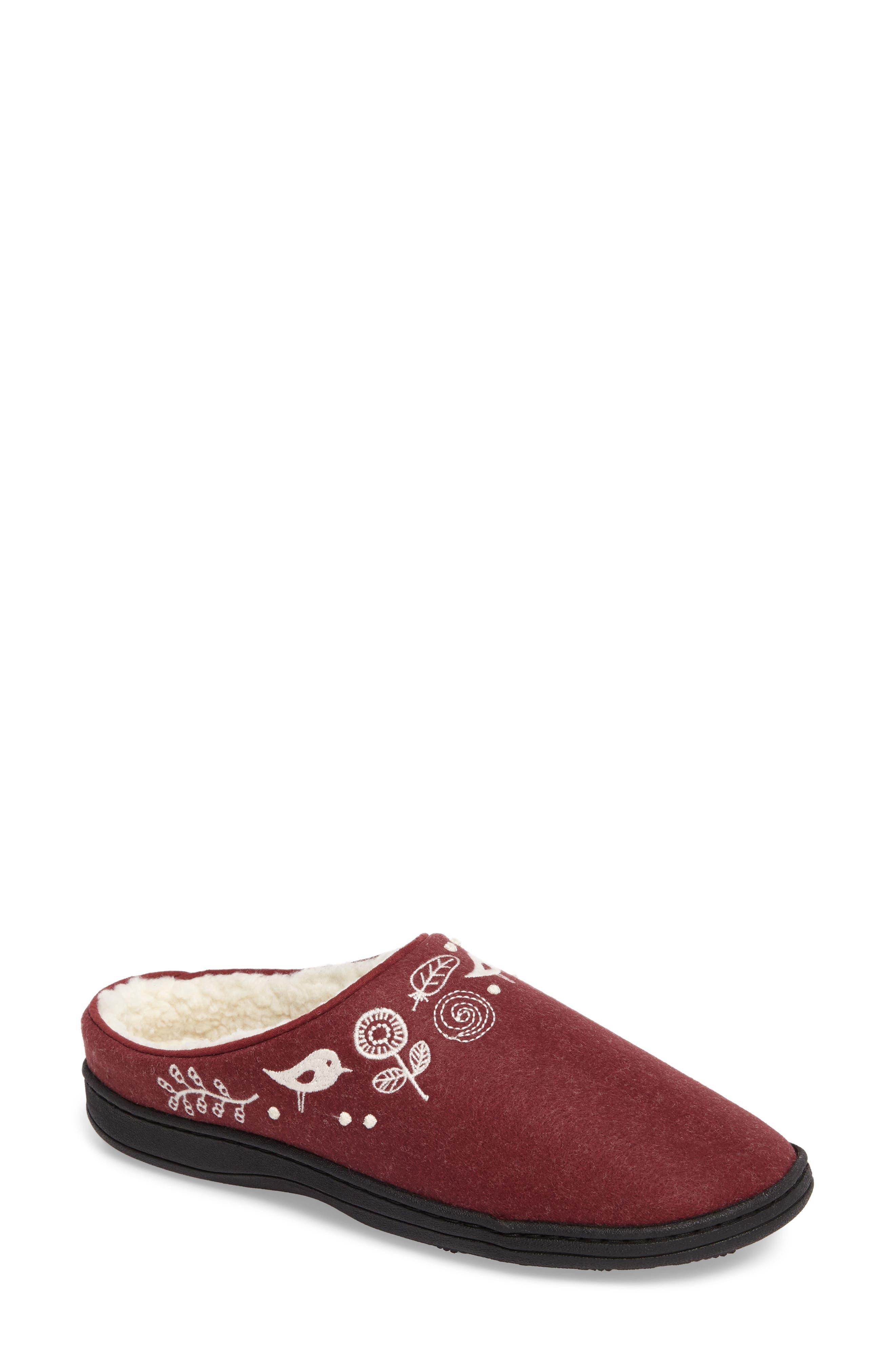 'Talara' Mule Slipper,                         Main,                         color, GARNET