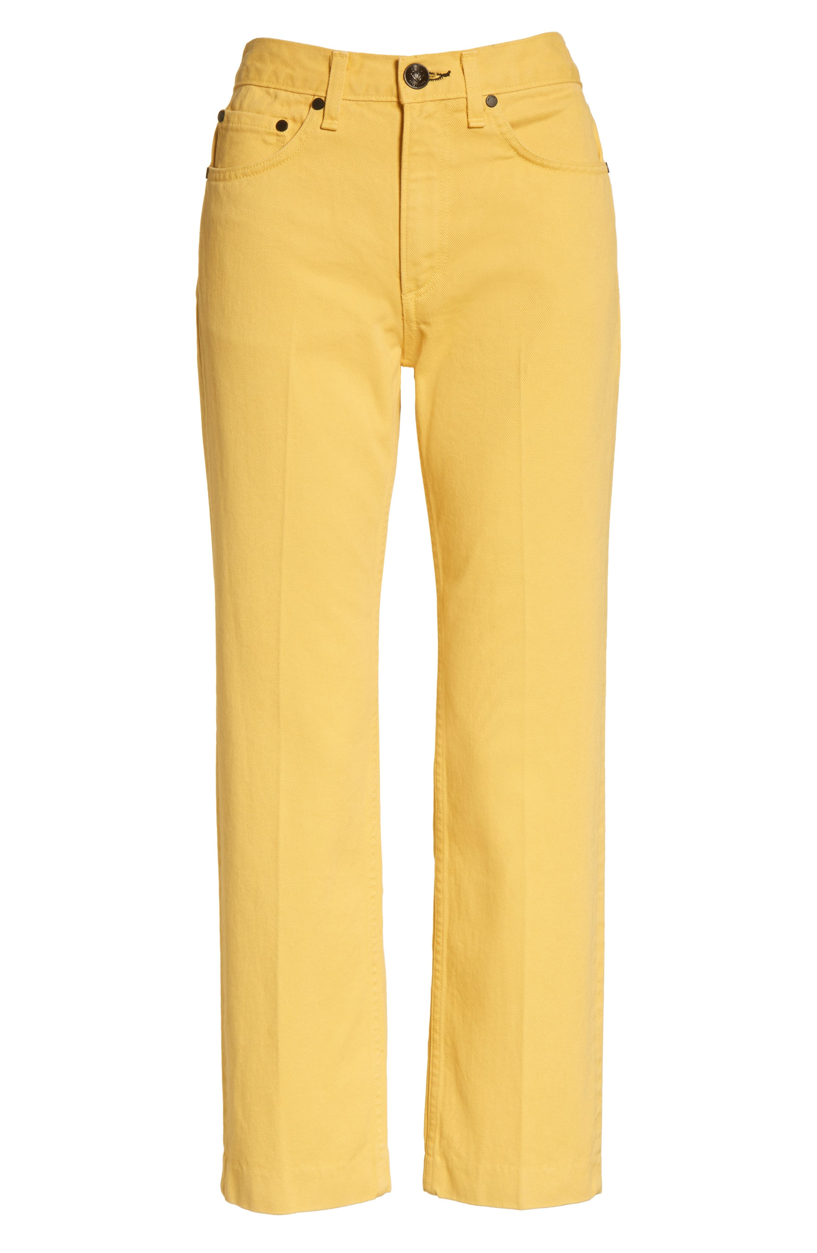 Straight Leg Crop Jeans,                             Alternate thumbnail 6, color,                             730