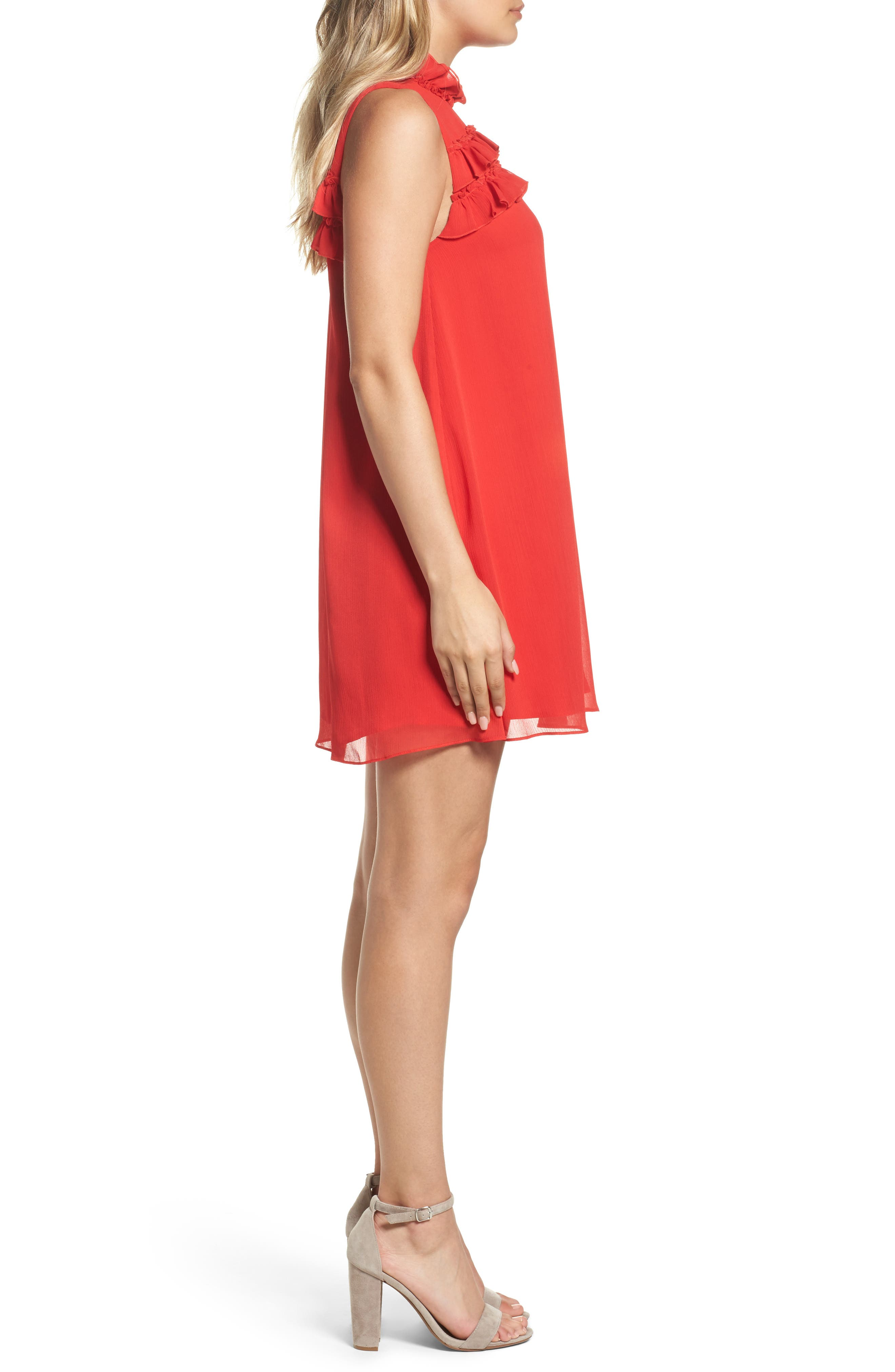 Hanson Trapeze Dress,                             Alternate thumbnail 3, color,                             638