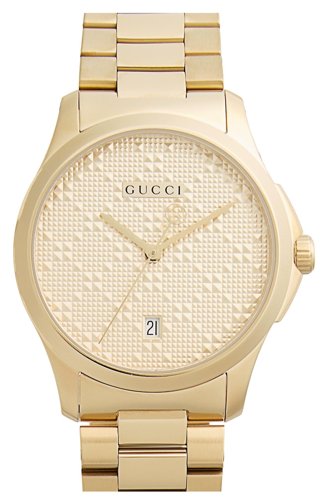 Round Bracelet Watch, 38mm,                         Main,                         color, GOLD