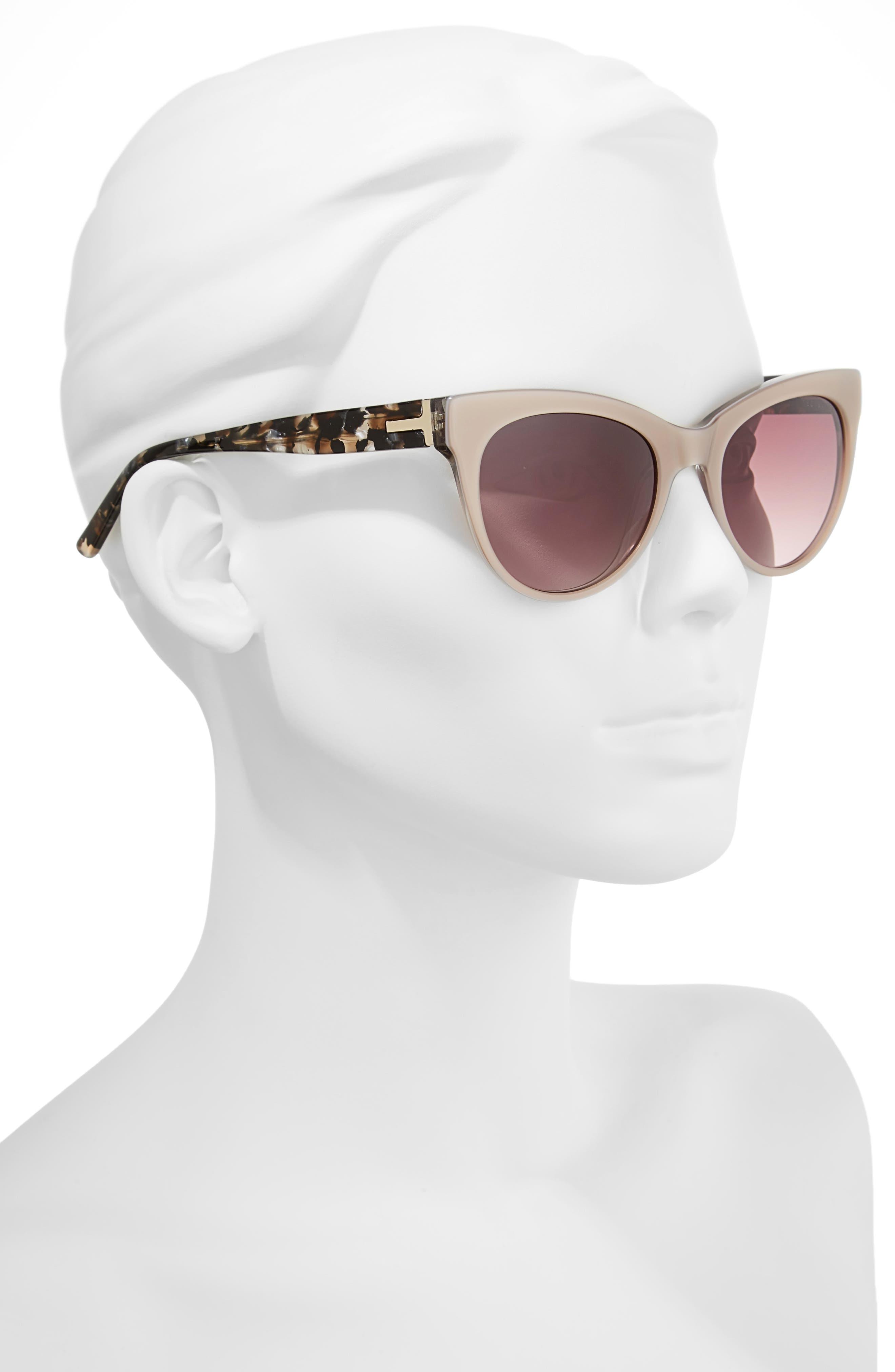 51mm Cat Eye Sunglasses,                             Alternate thumbnail 3, color,