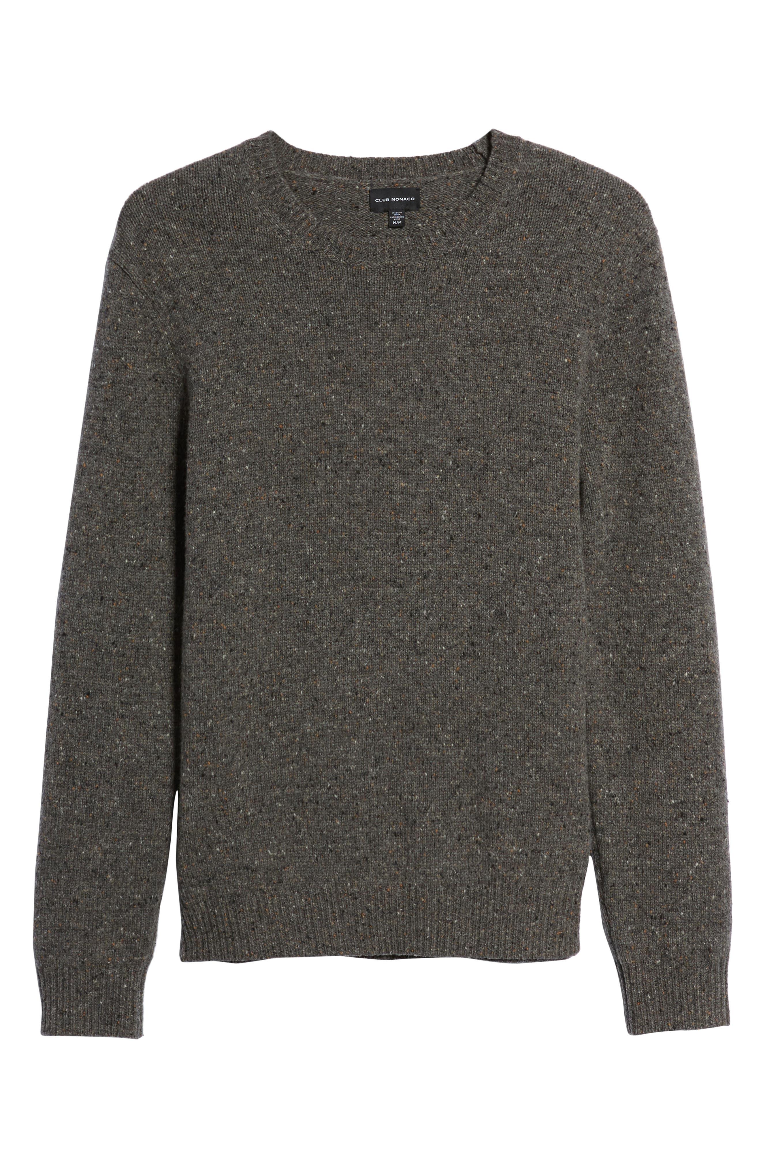 Jaxon Trim Fit Wool Sweater,                             Alternate thumbnail 6, color,                             GREY MULTI